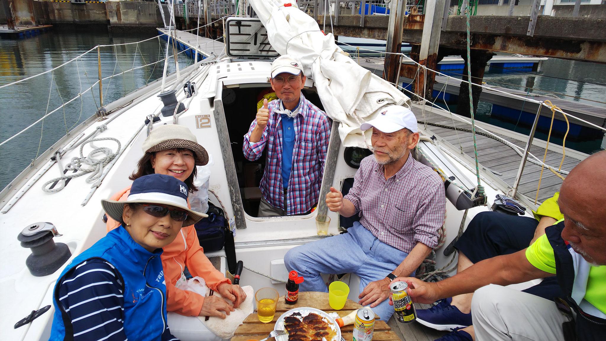 艇のオーナーのお三方・ありがとうございました!