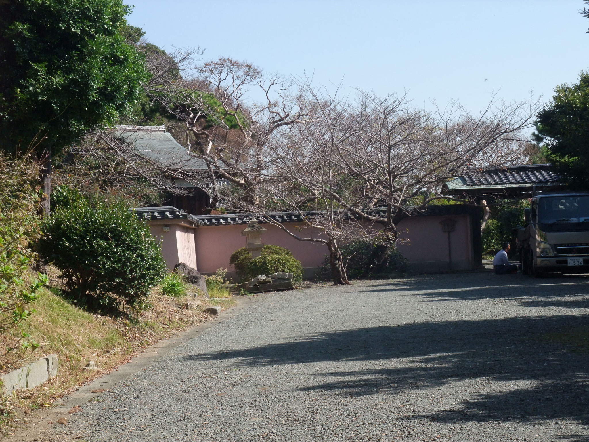 安田財閥の祖 安田善次郎邸の遠望 裏の小高い山全域が敷地とか