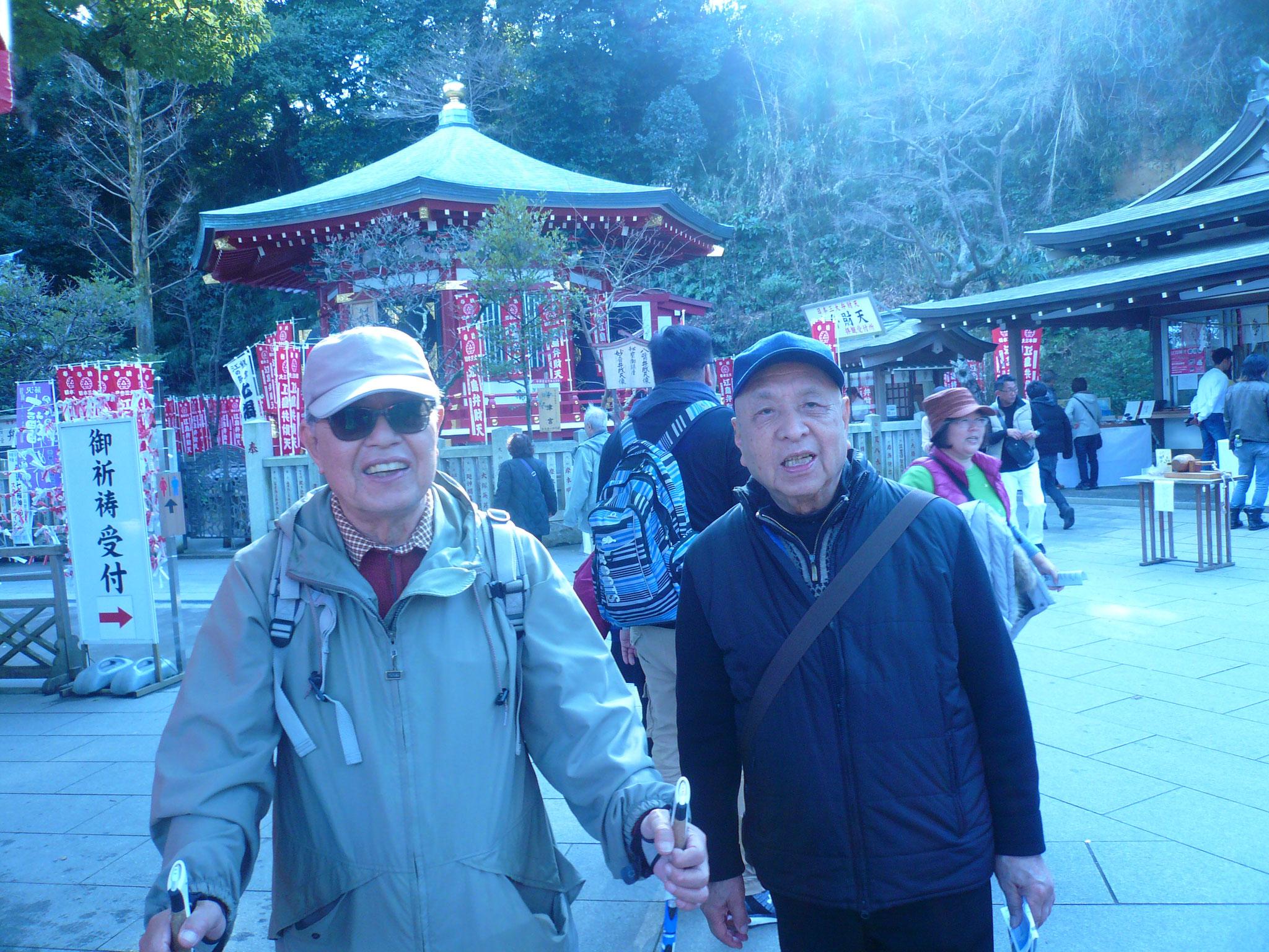 エスカーで登られた浜田さんと田村さん