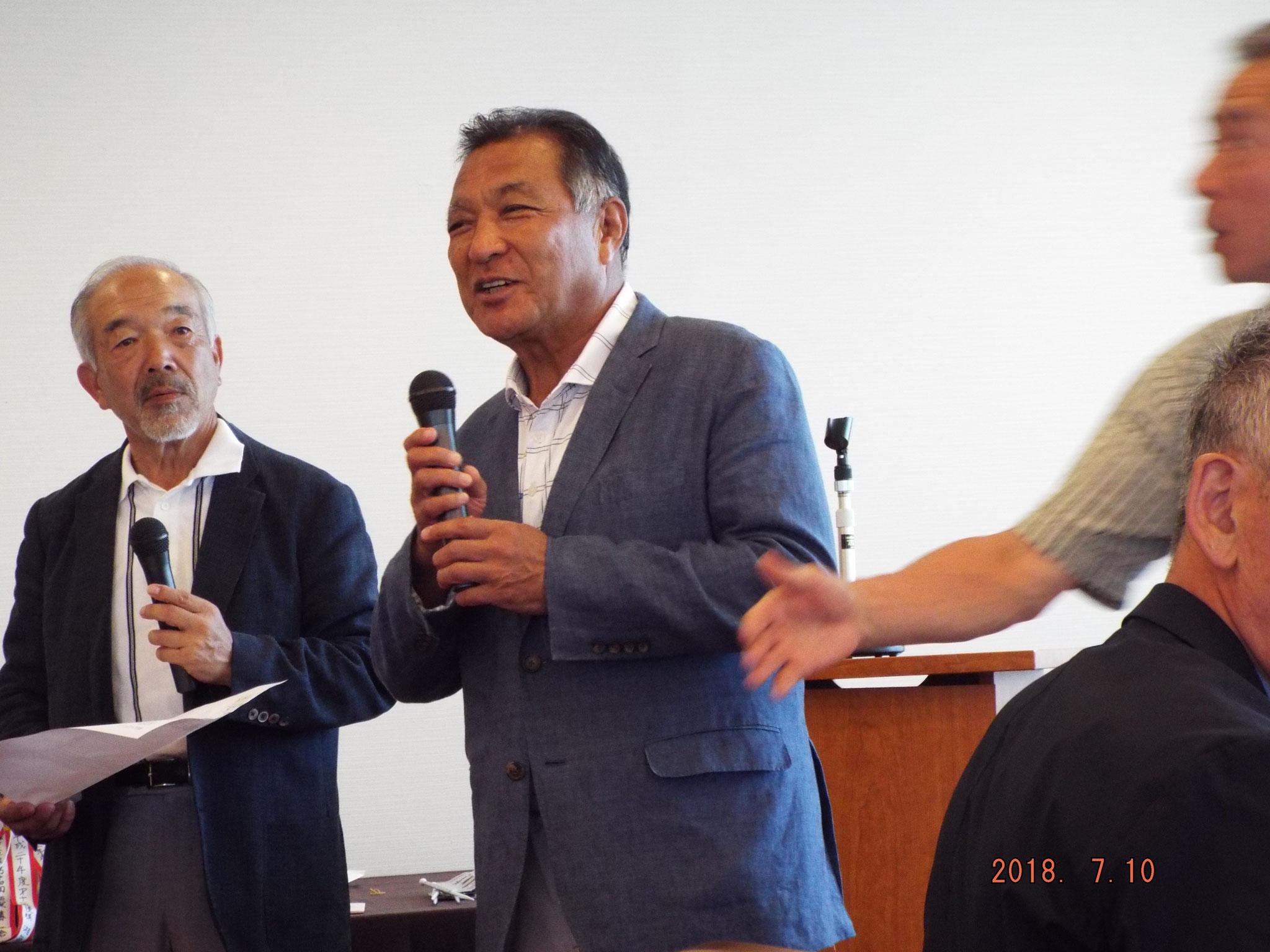 優勝したうれしい倉泉さんのスピーチ