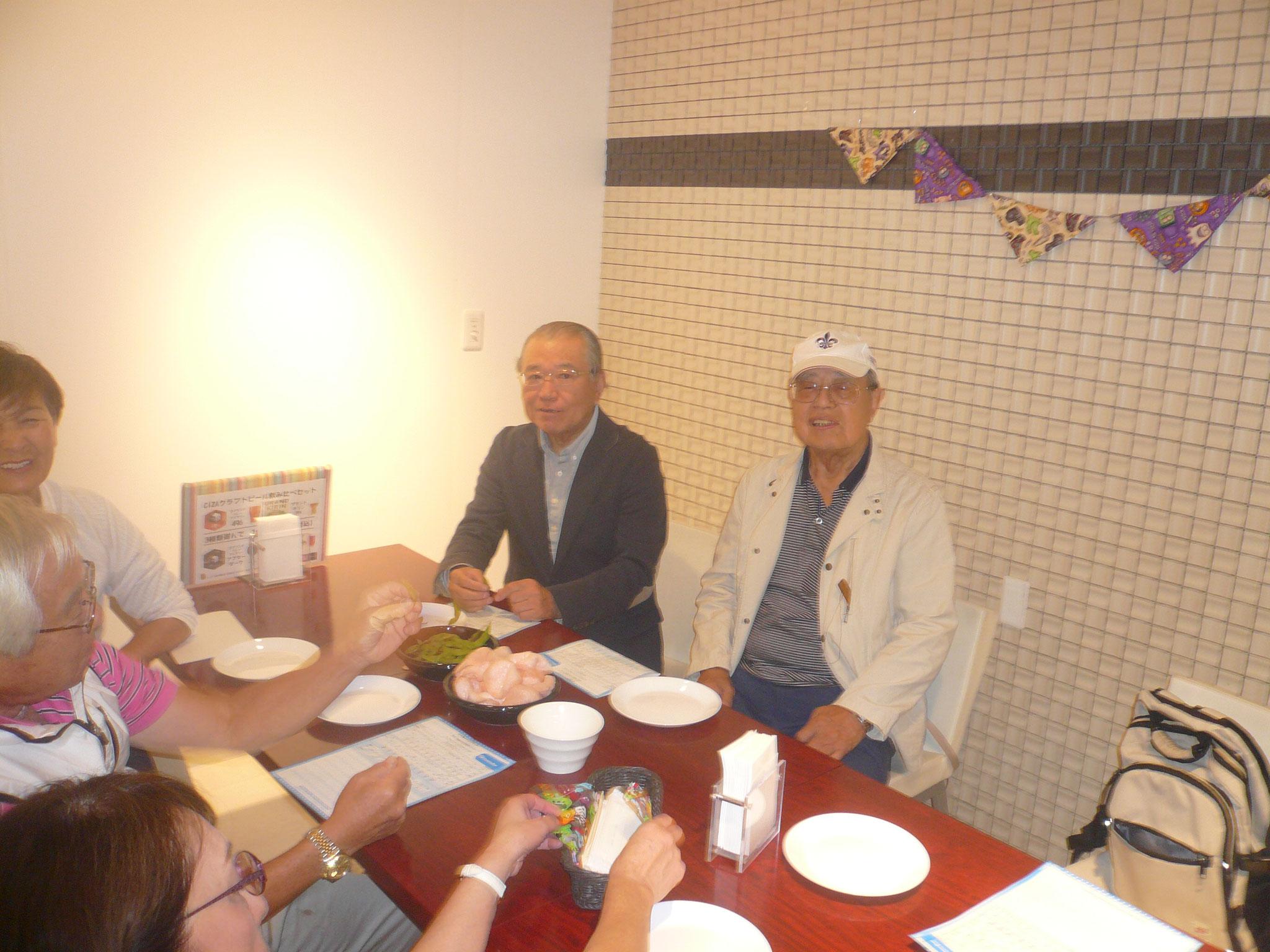 前回優勝中島さんと今回優勝浜田さんが偶然同席