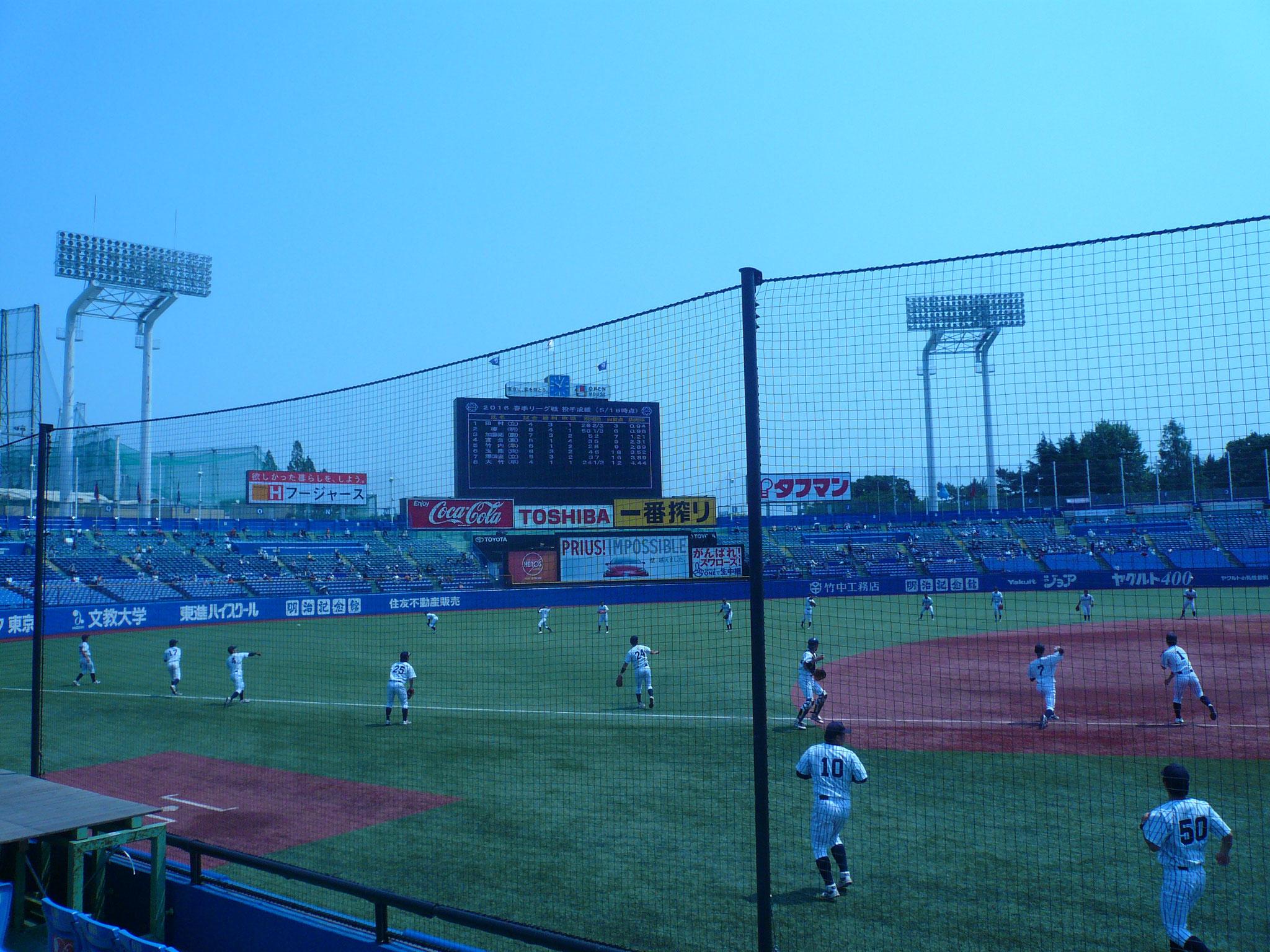 試合前応援風景