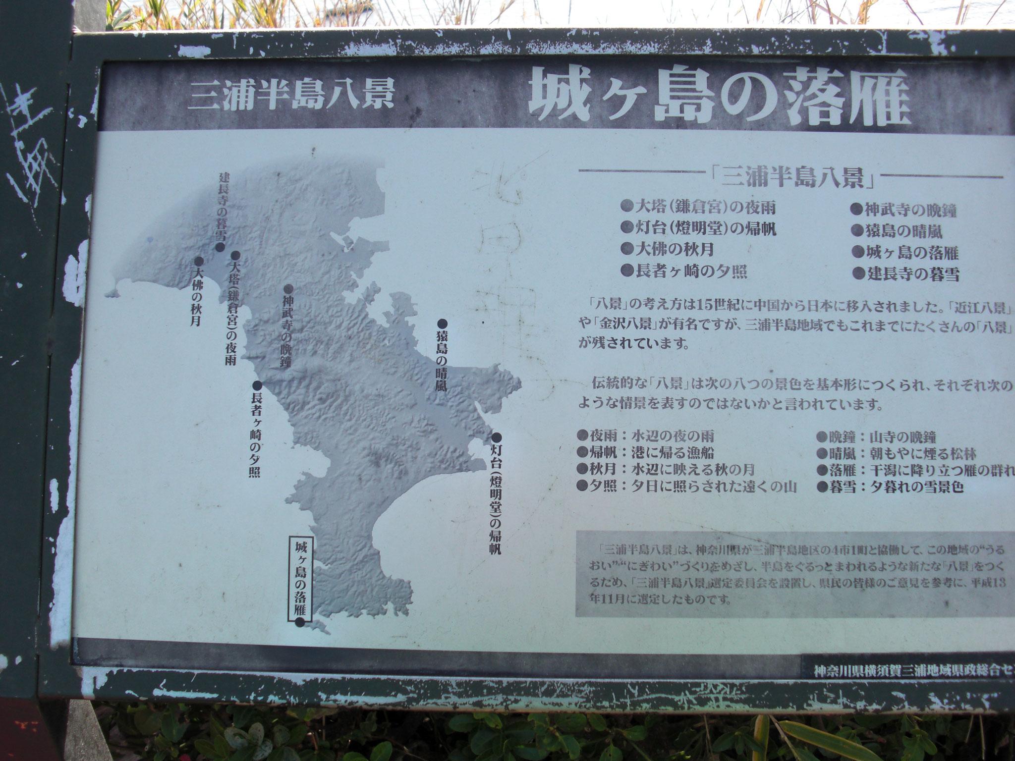 三浦半島八景「城ヶ島の落雁」