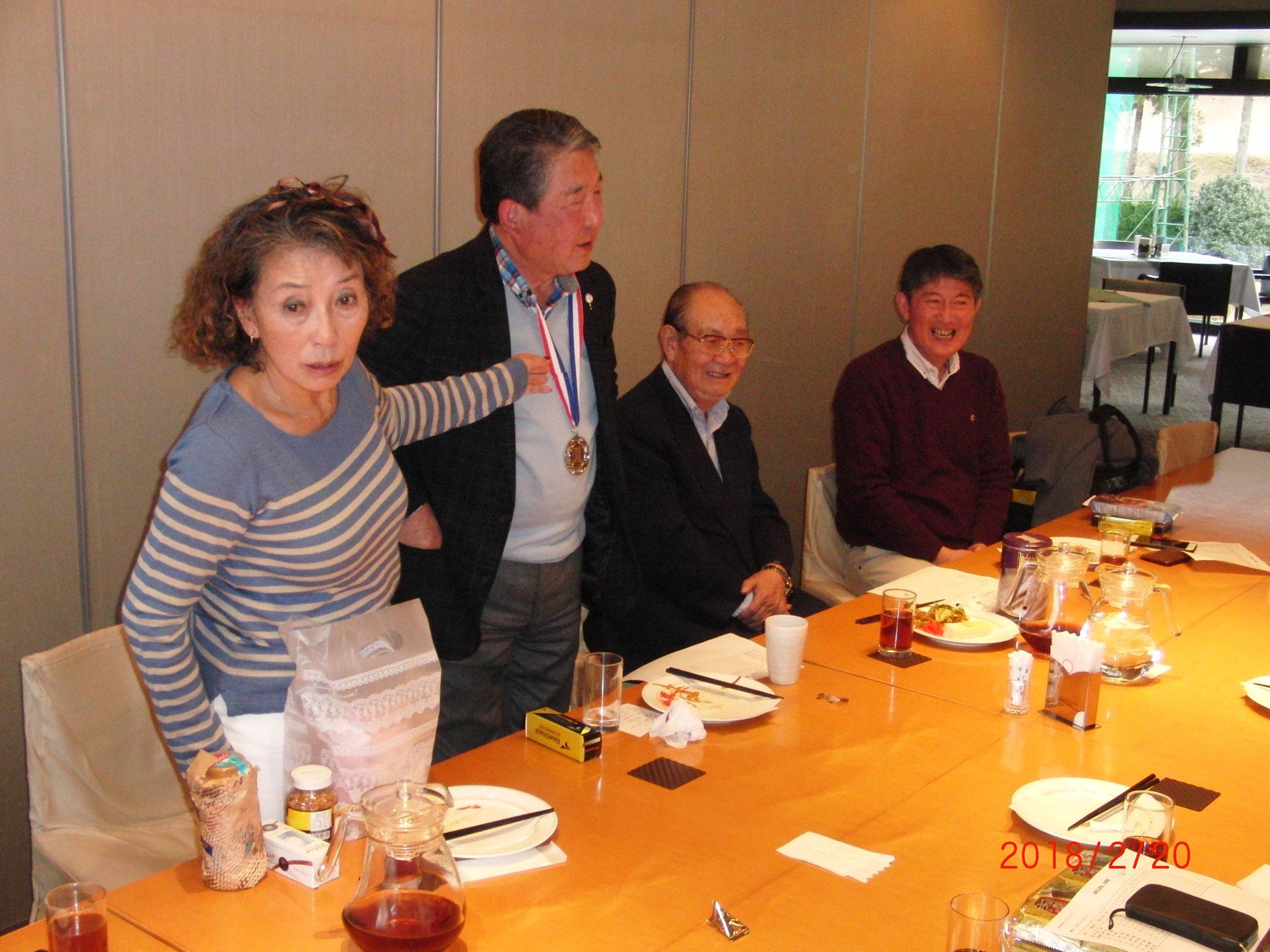 パーティ 小宮さん、徳光さん、鈴木さん、ニアピンの林さん、