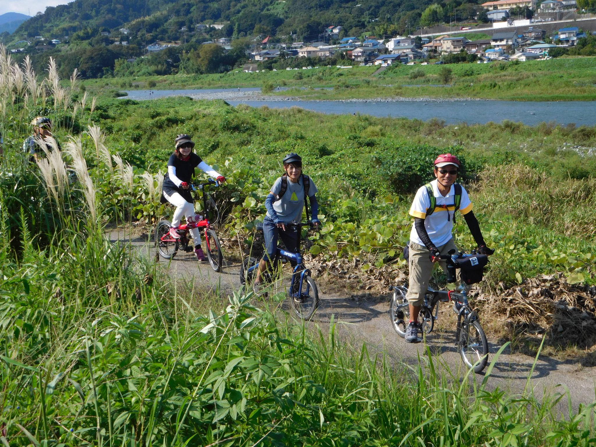 酒匂川サイクリングロードから帰路につきます。