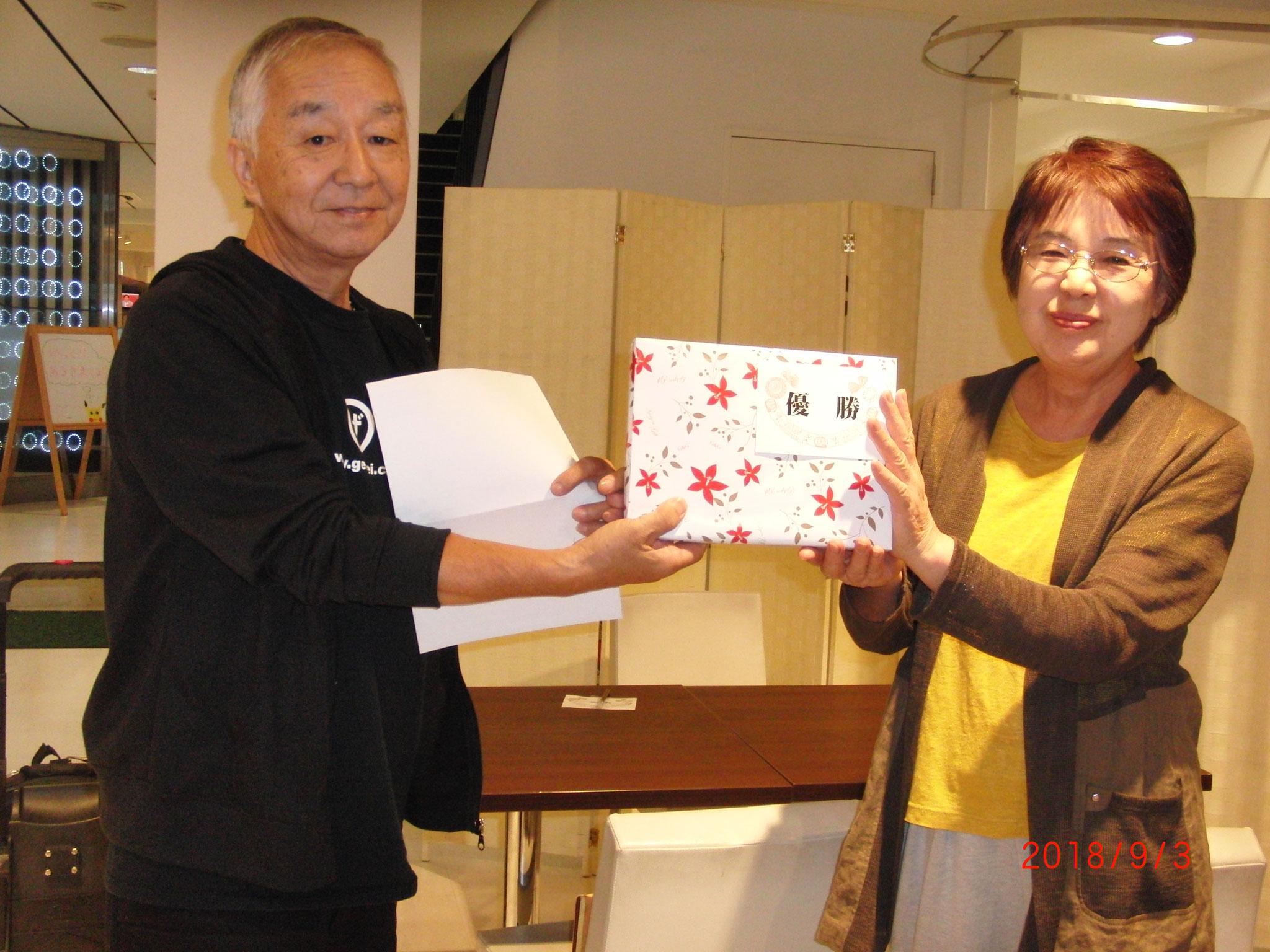 江ノ島杯の優勝者 : 清水勝男(技術顧問)