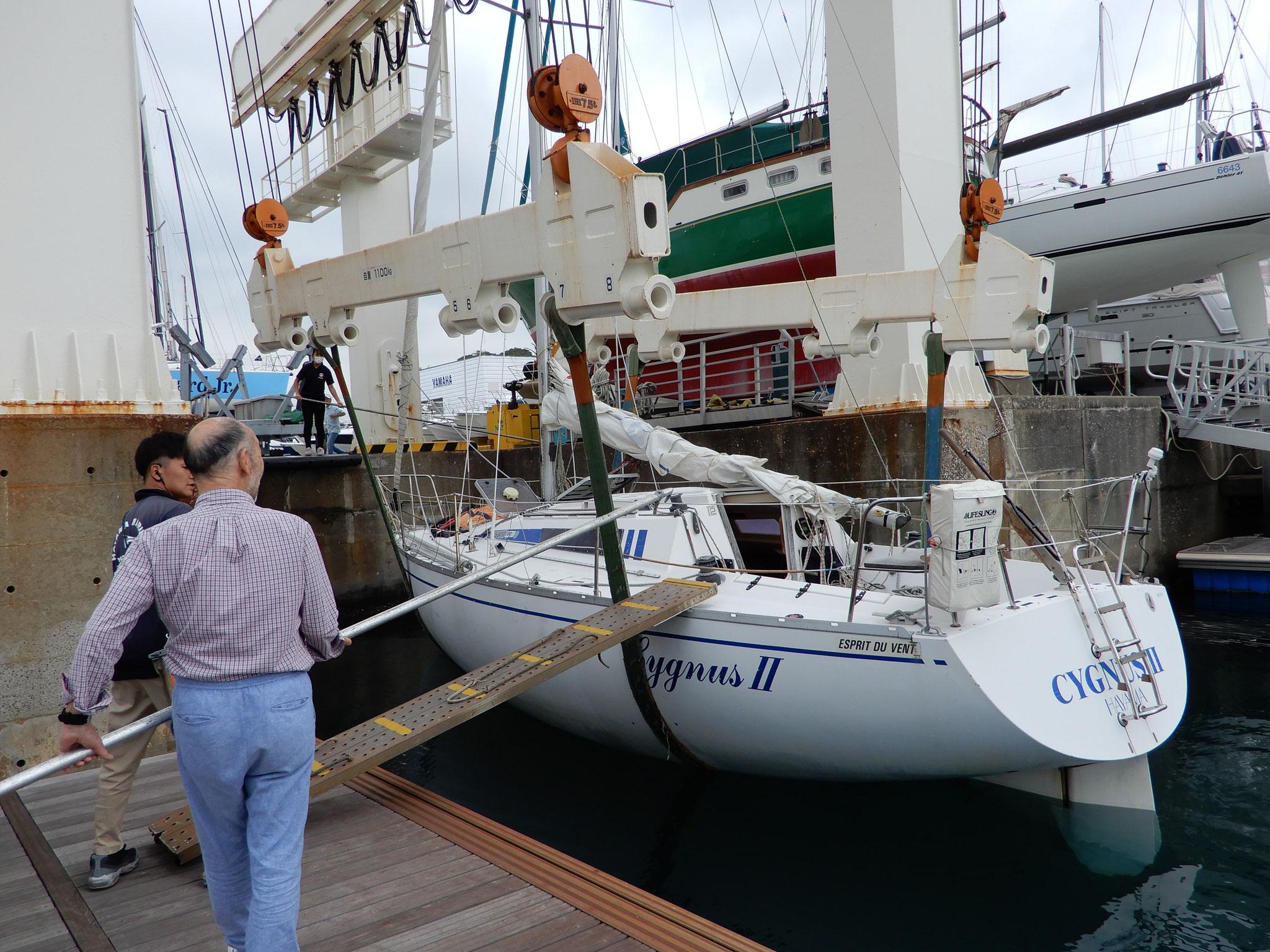 本日乗艇する「シグナス2世」 フランスデザイン
