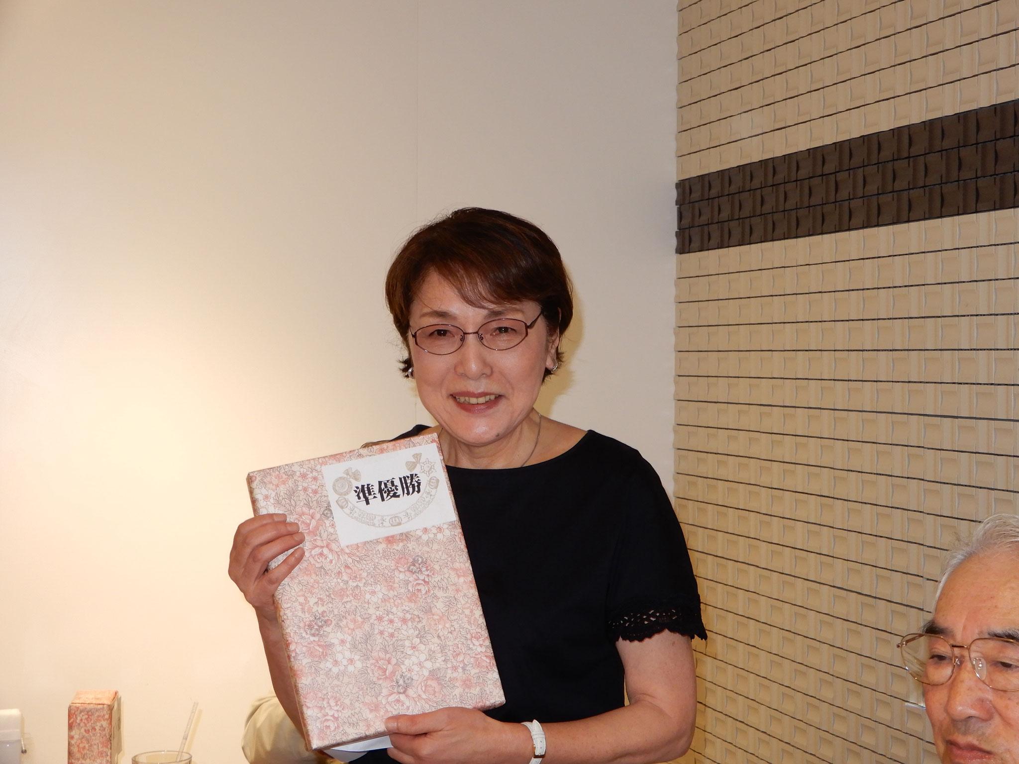 準優勝者: <宮田和子> 丁寧にスコアーをまとめました。