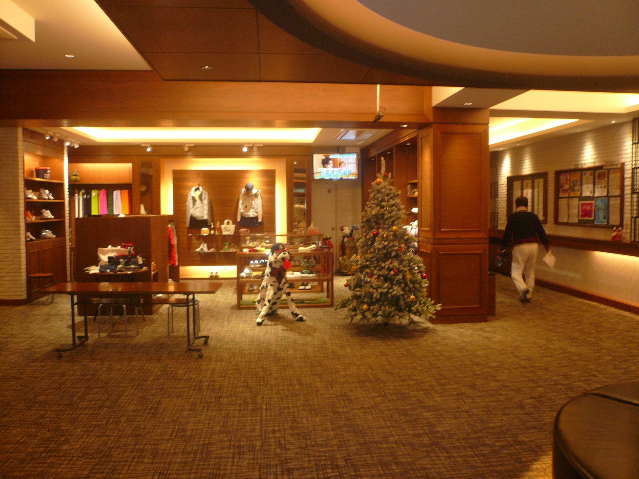 館内はクリスマスモード