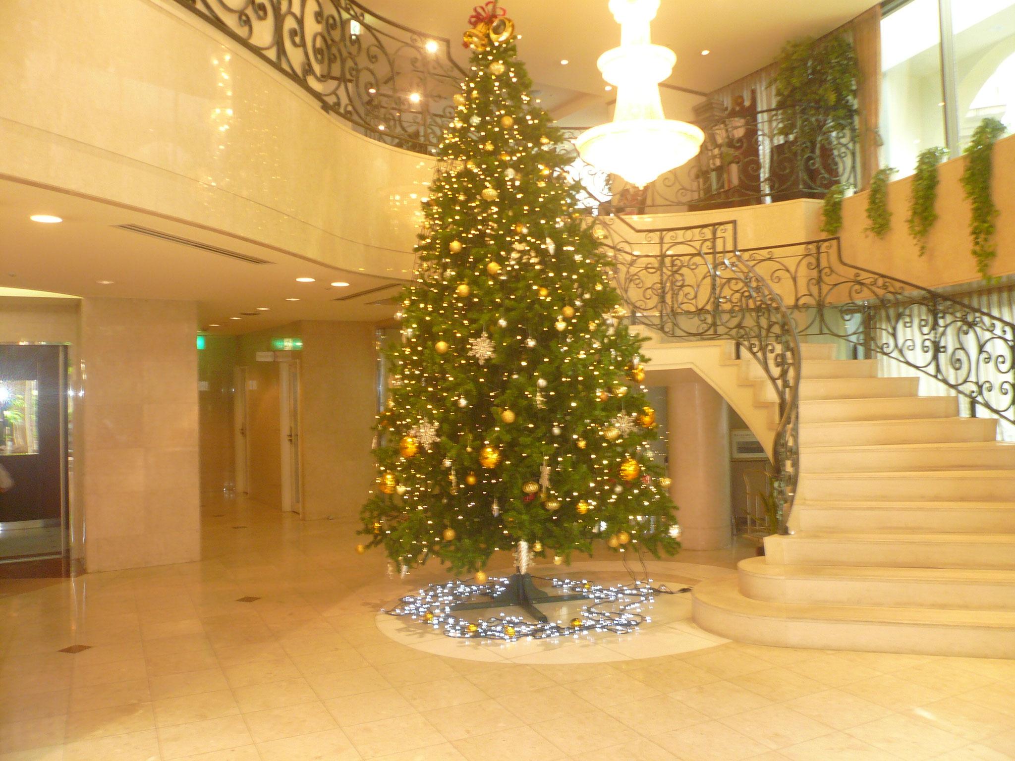 湘南クリスタルホテルクリスマスモードでお出迎え