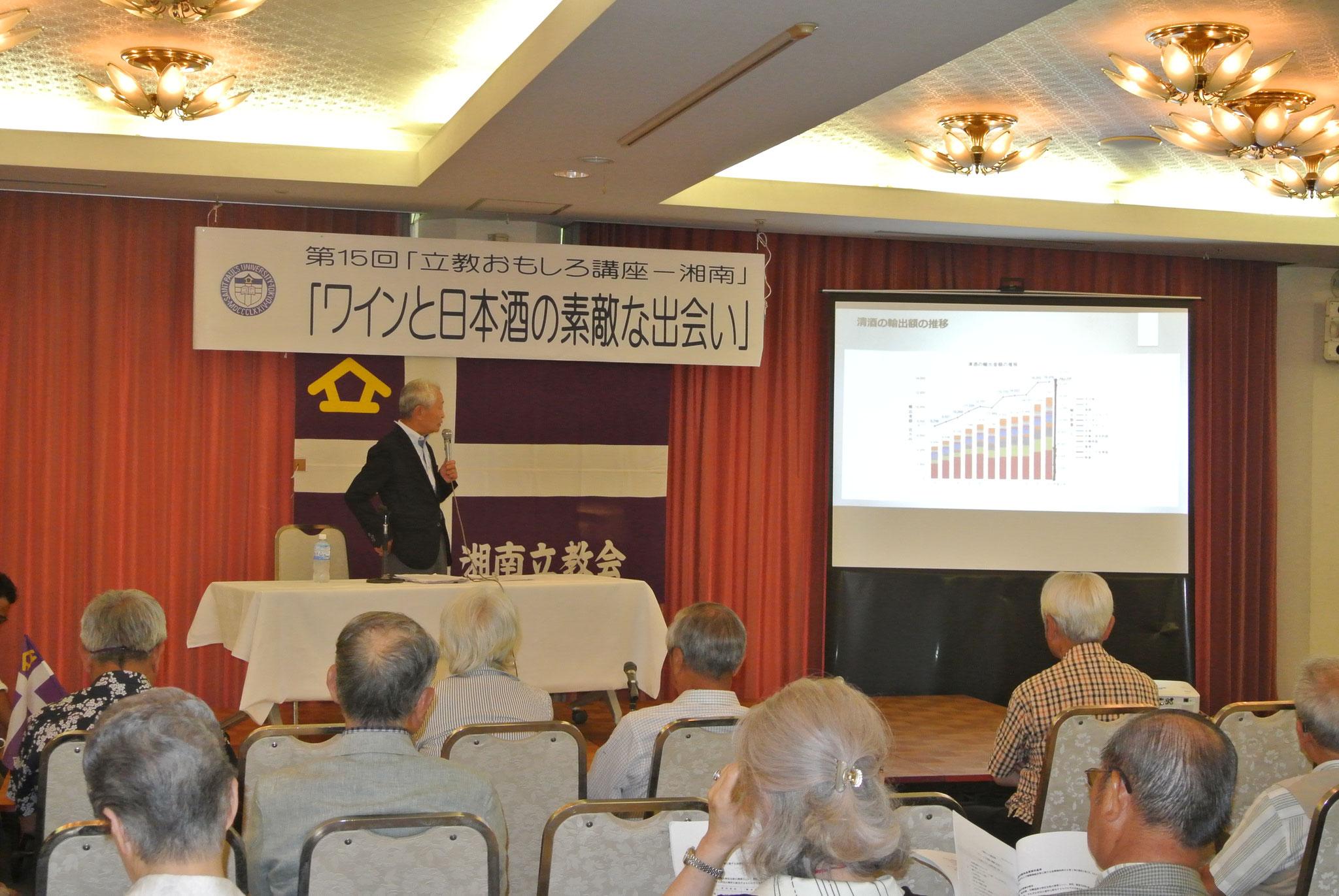 日本酒の輸出はうなぎのぼりと。