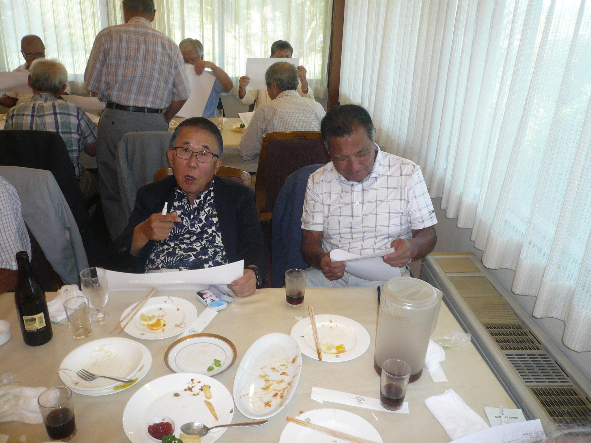 優勝した倉泉さん会食中