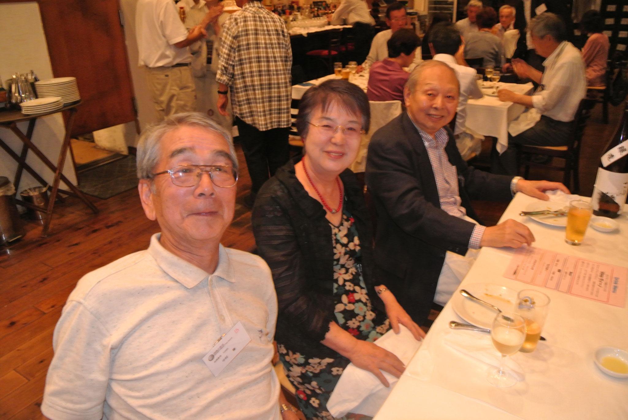 気持ちよさそうな中村さん、高山さん、仲野さん