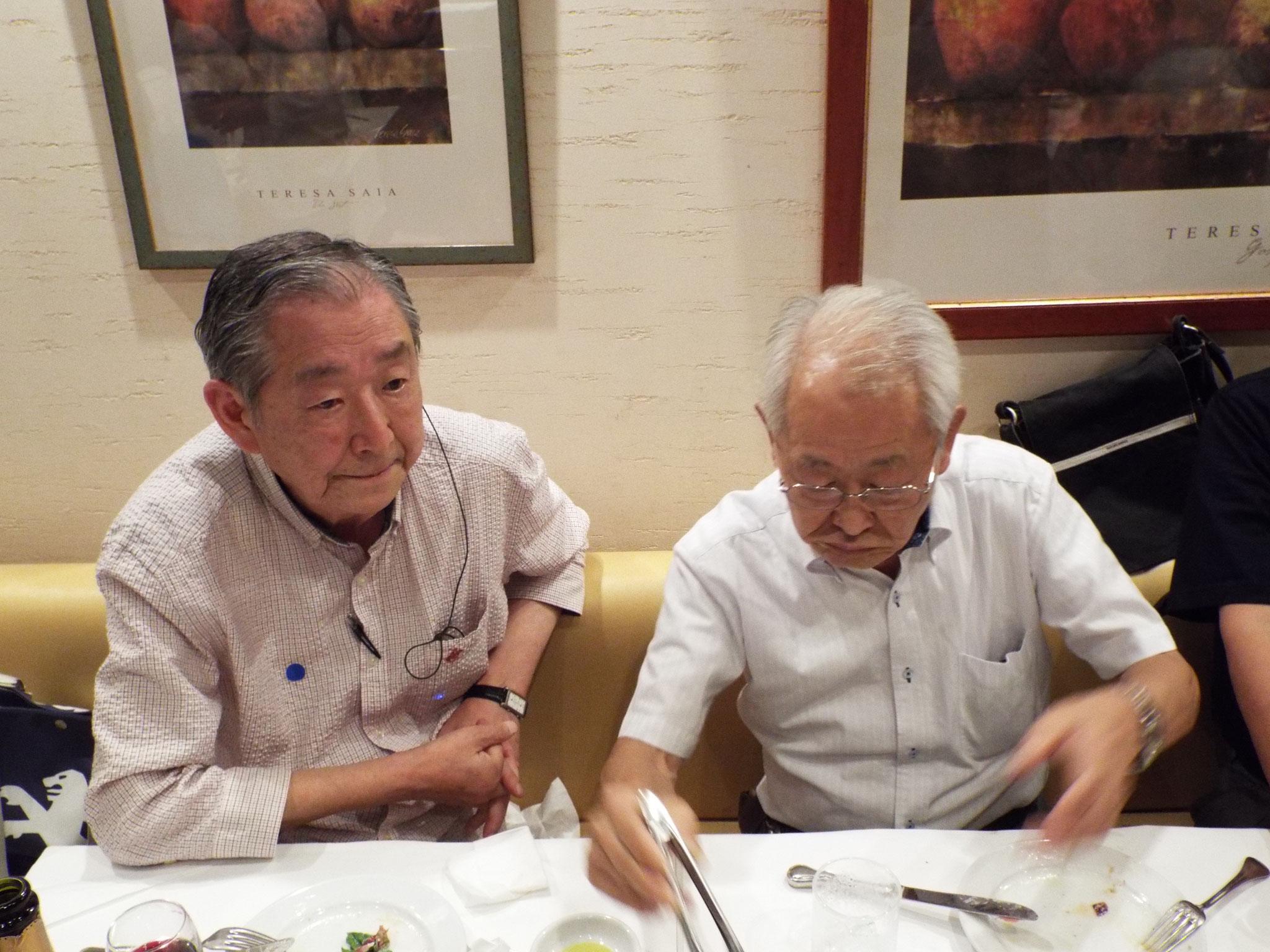 話が弾む栗山さんと和田さん