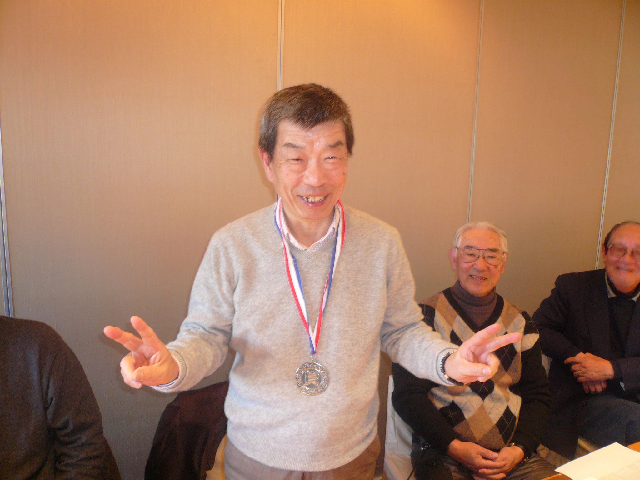 優勝した金メタリスト高雄さん