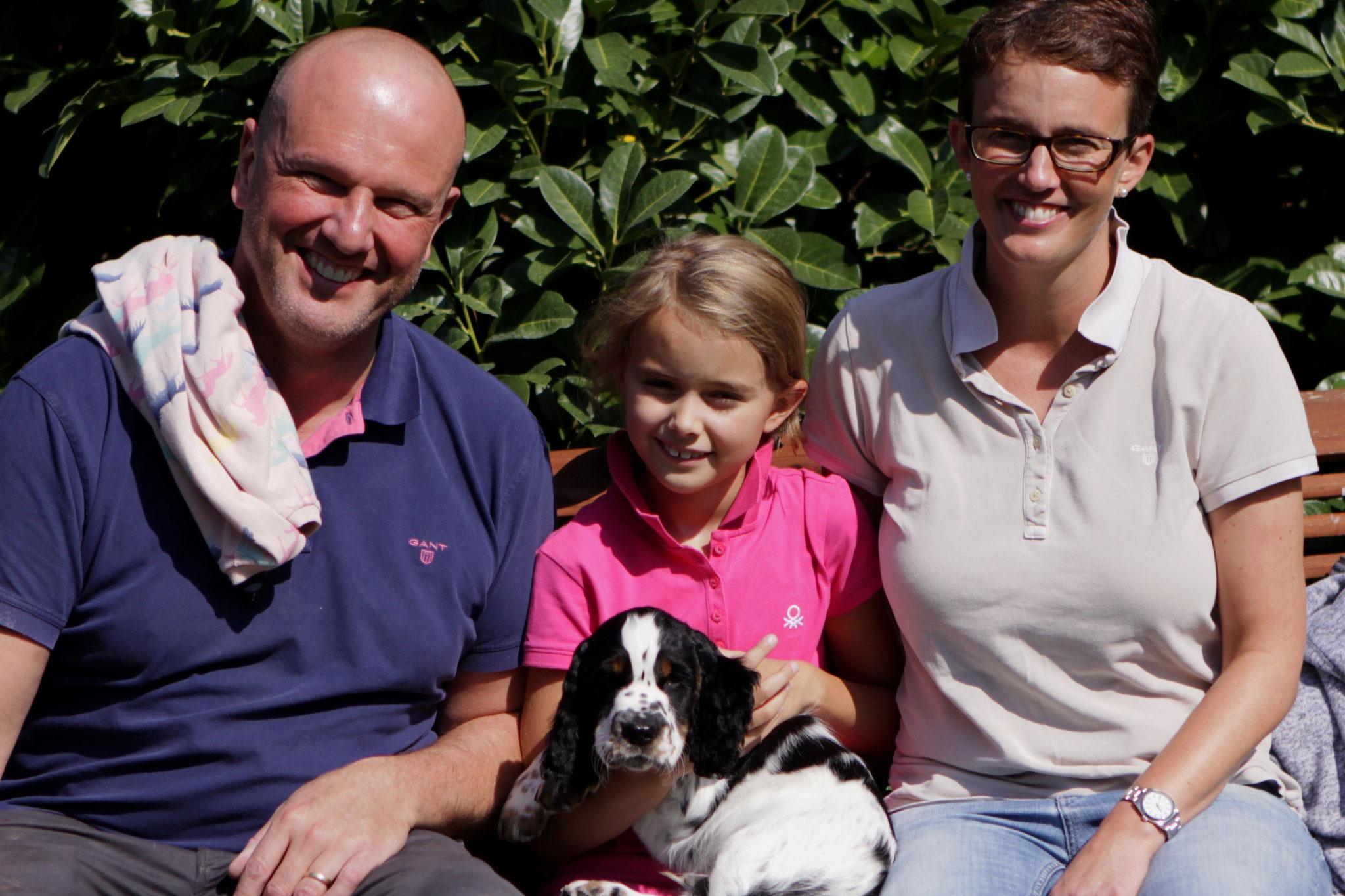 Kermit bespaßt eine tolle Familie in Hamburg