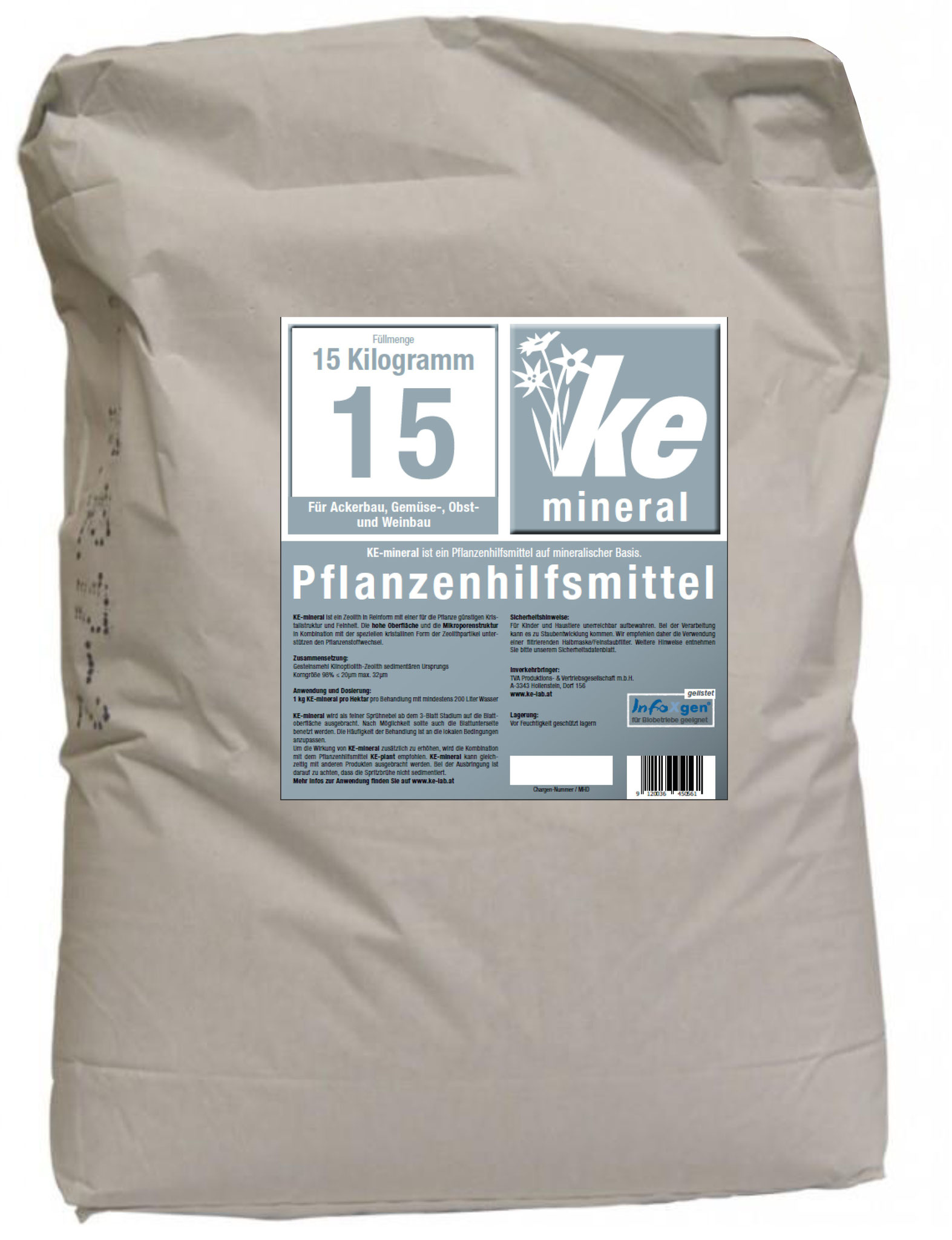 KE-mineral in 15 kg bag