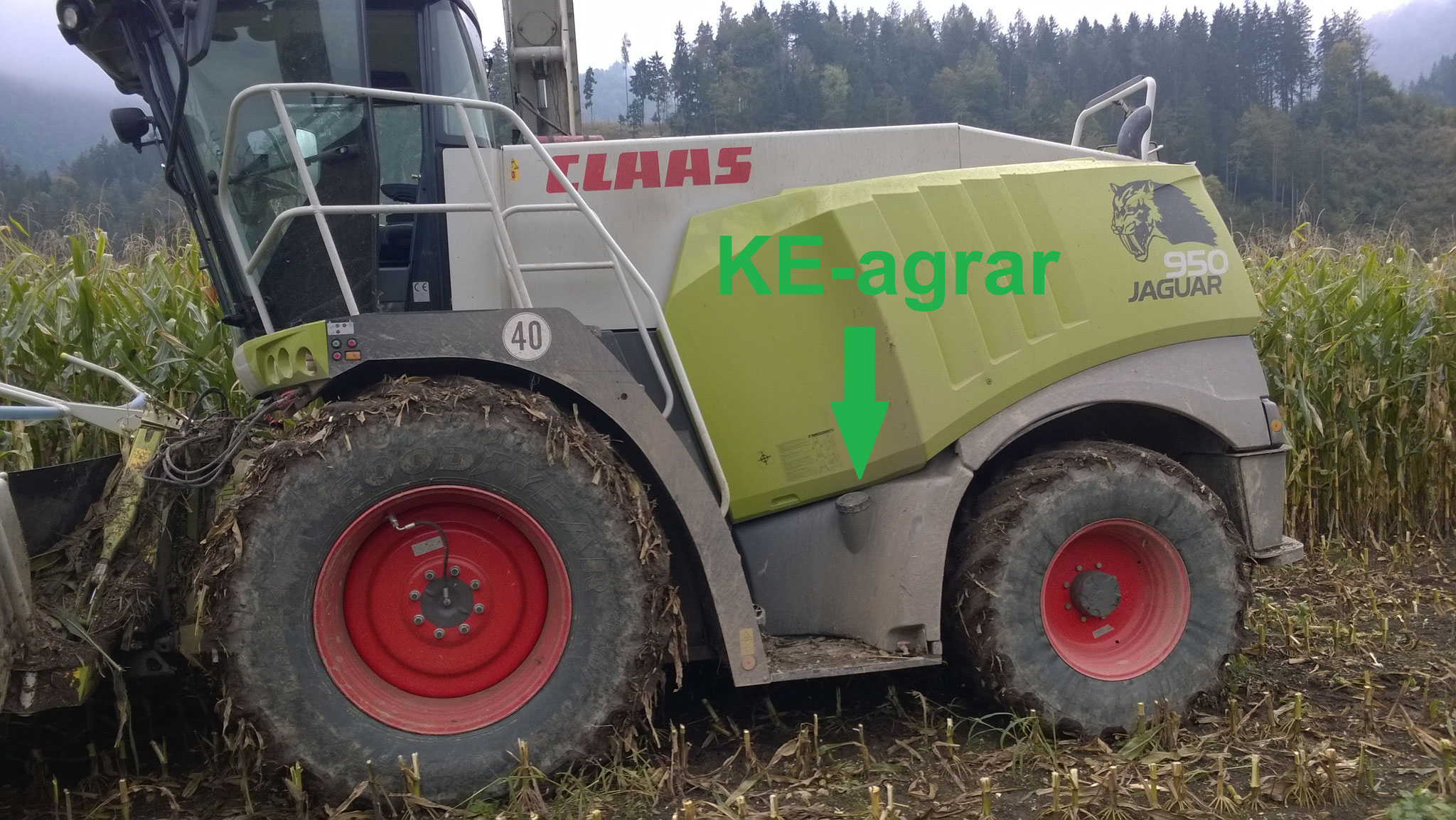 The dosage at the forage harvester guarantees an optimal distribution of KE-agrar.