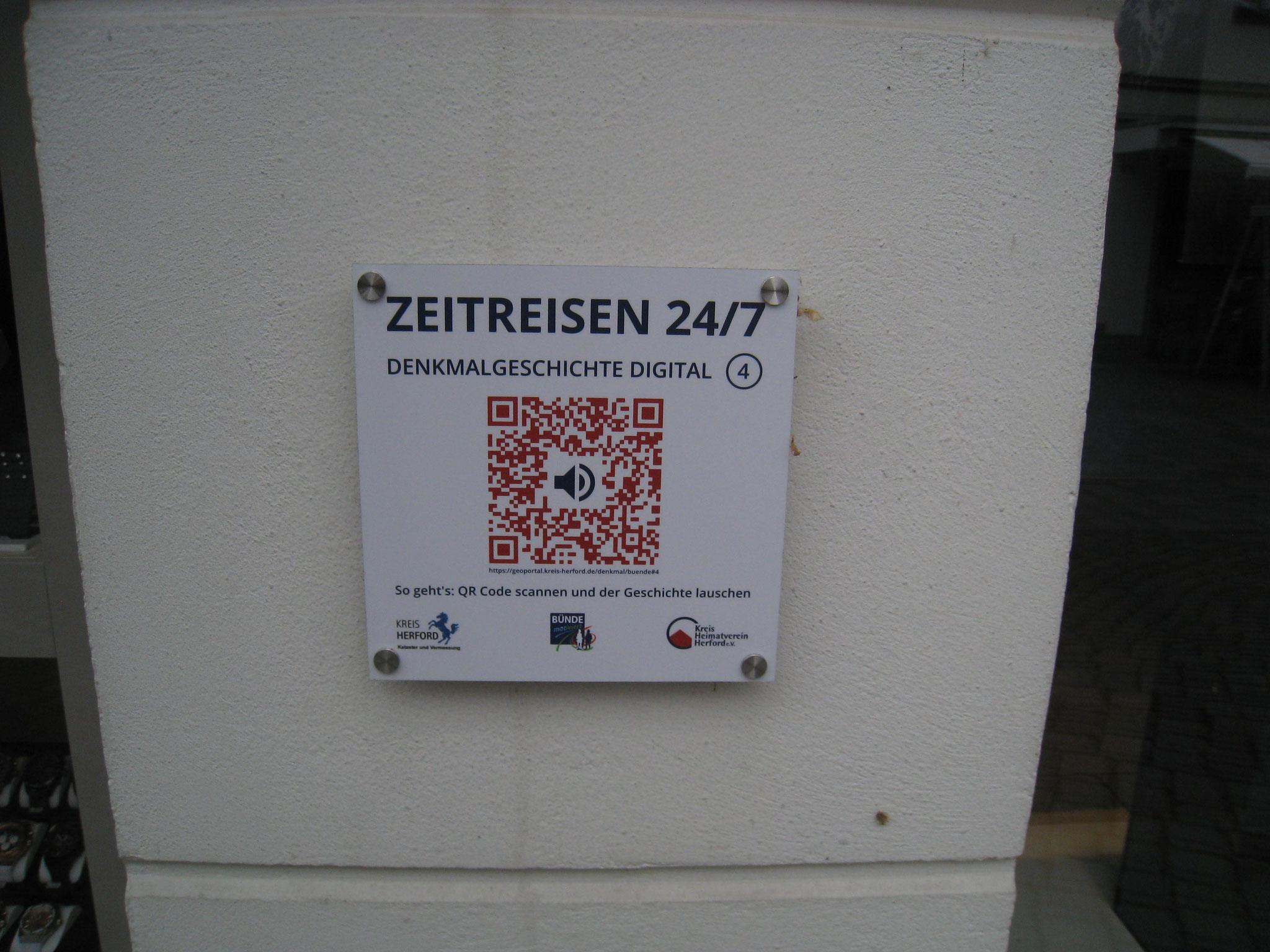 QR-Codes an Bünder Denkmälern