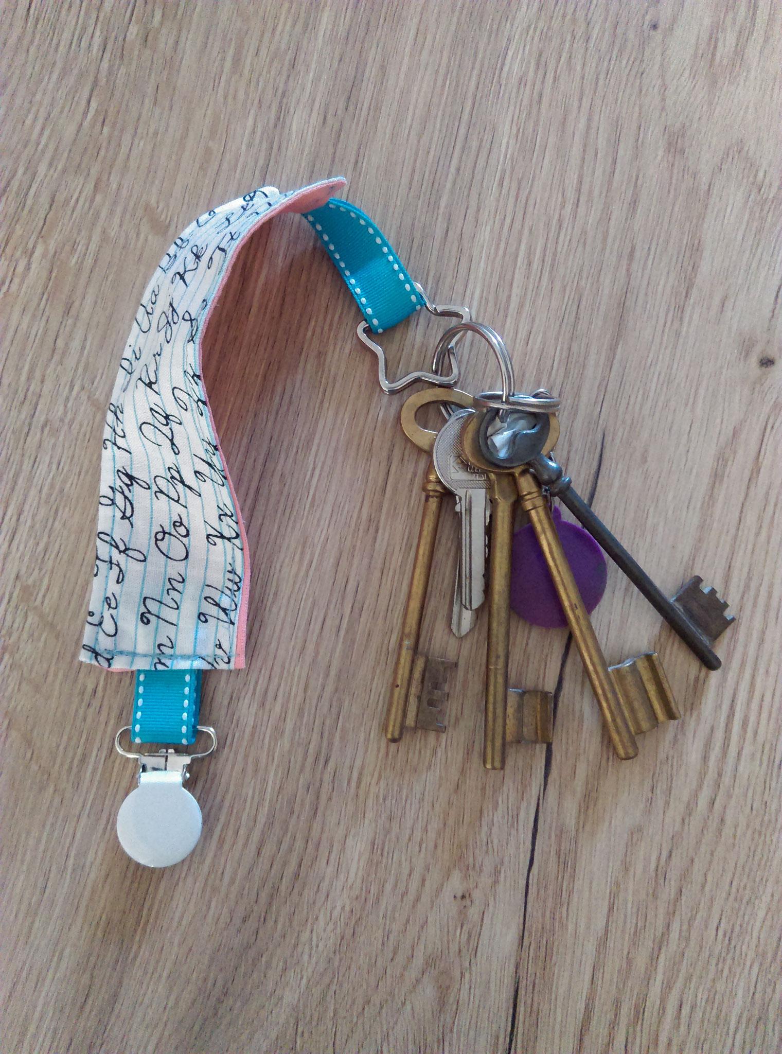 Porte-clés à clipser