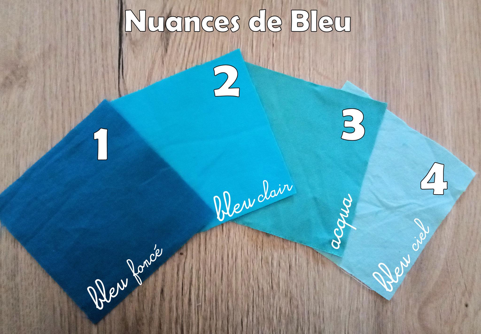 """Lingettes lavables """"Bleu"""""""