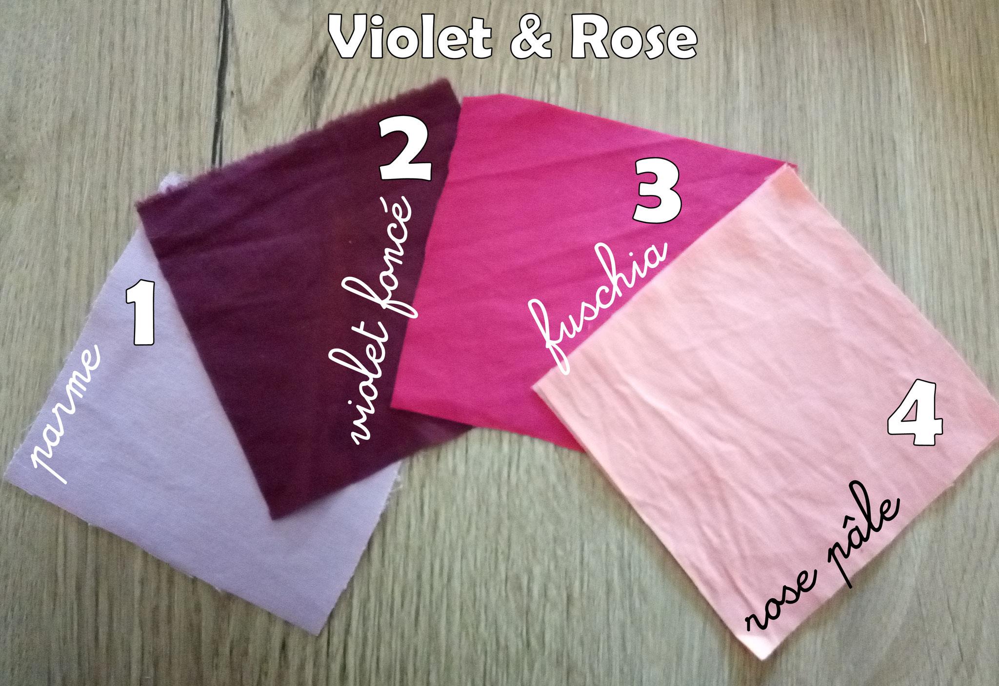 """Lingettes lavables """"Rose"""""""
