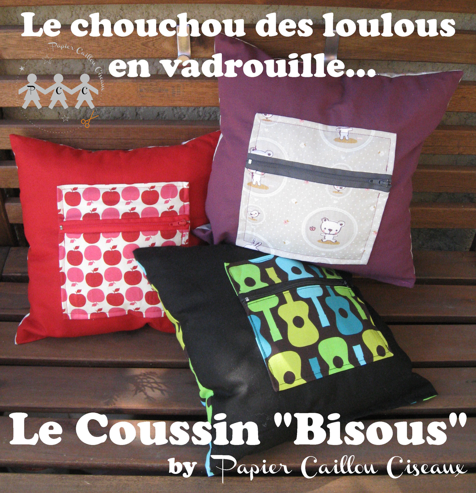 "Coussins ""Bisous"""