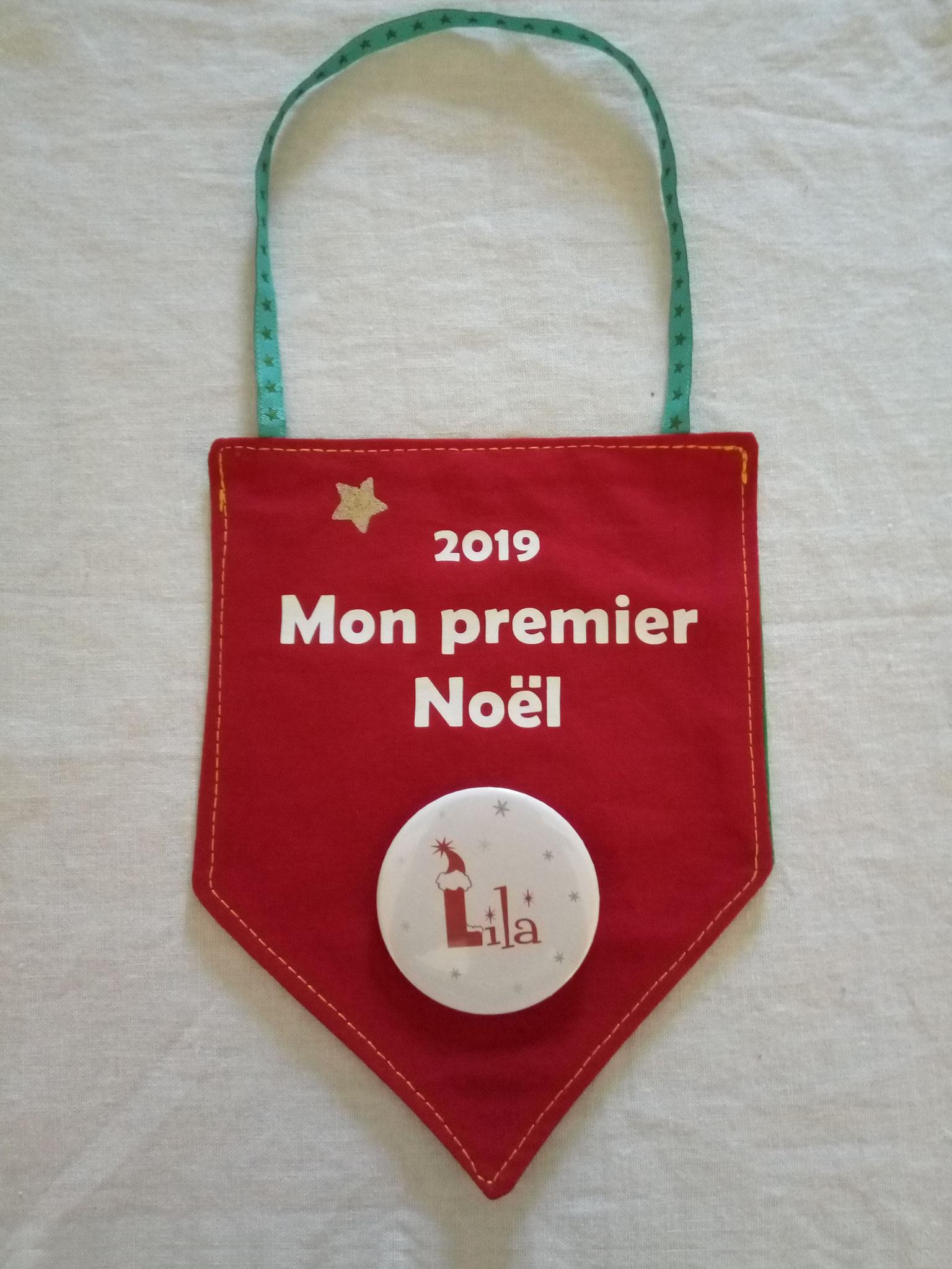 """Fanion rouge """"Mon 1er Noël"""""""