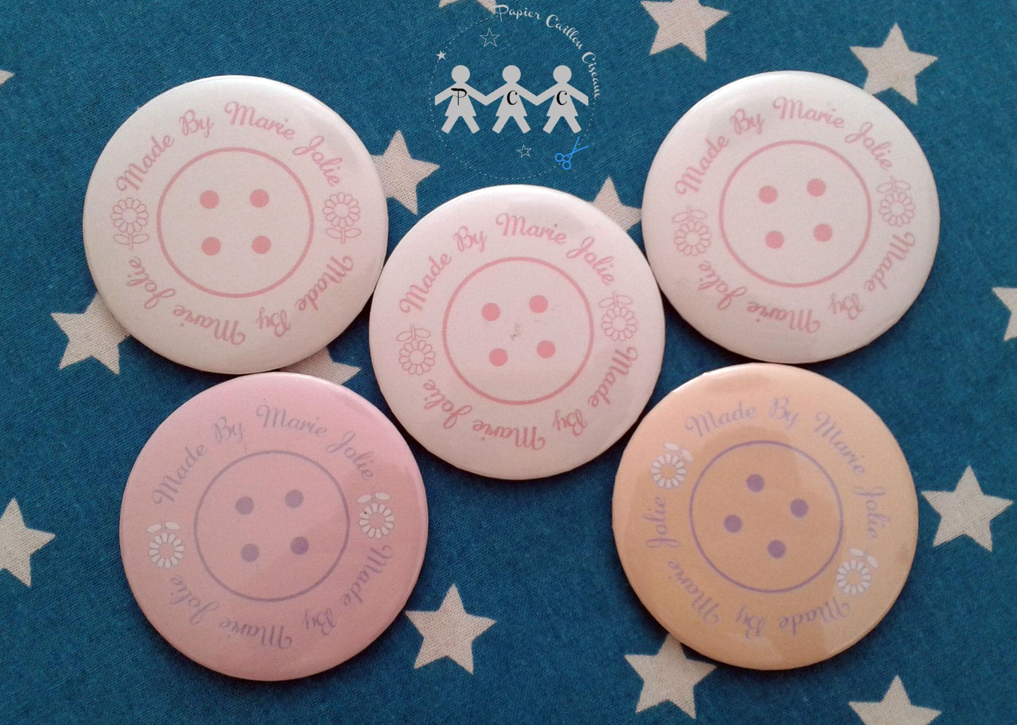 badge magnet miroir décapsuleur personnalisé logo