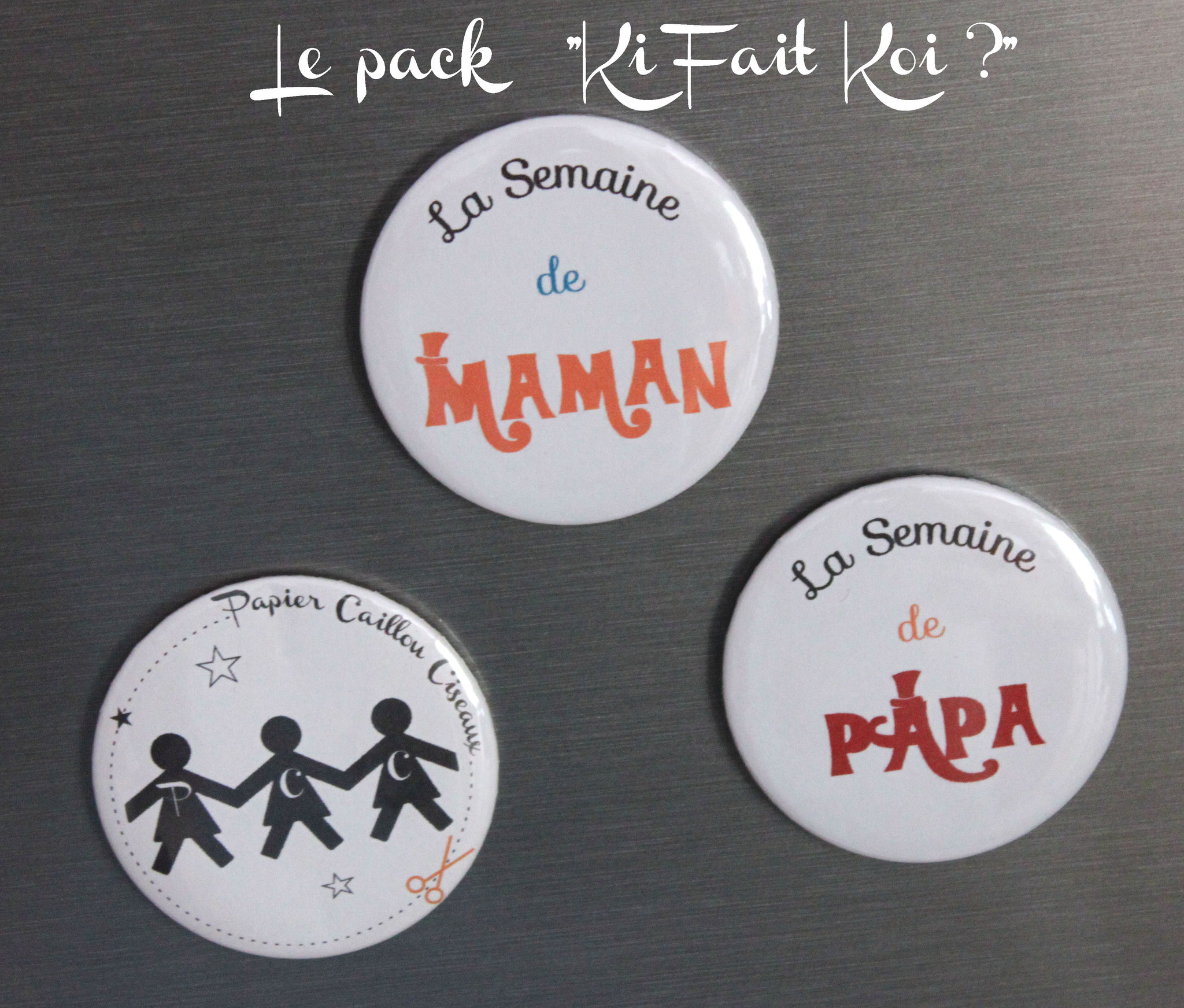 Pack magnets emploi du temps familial
