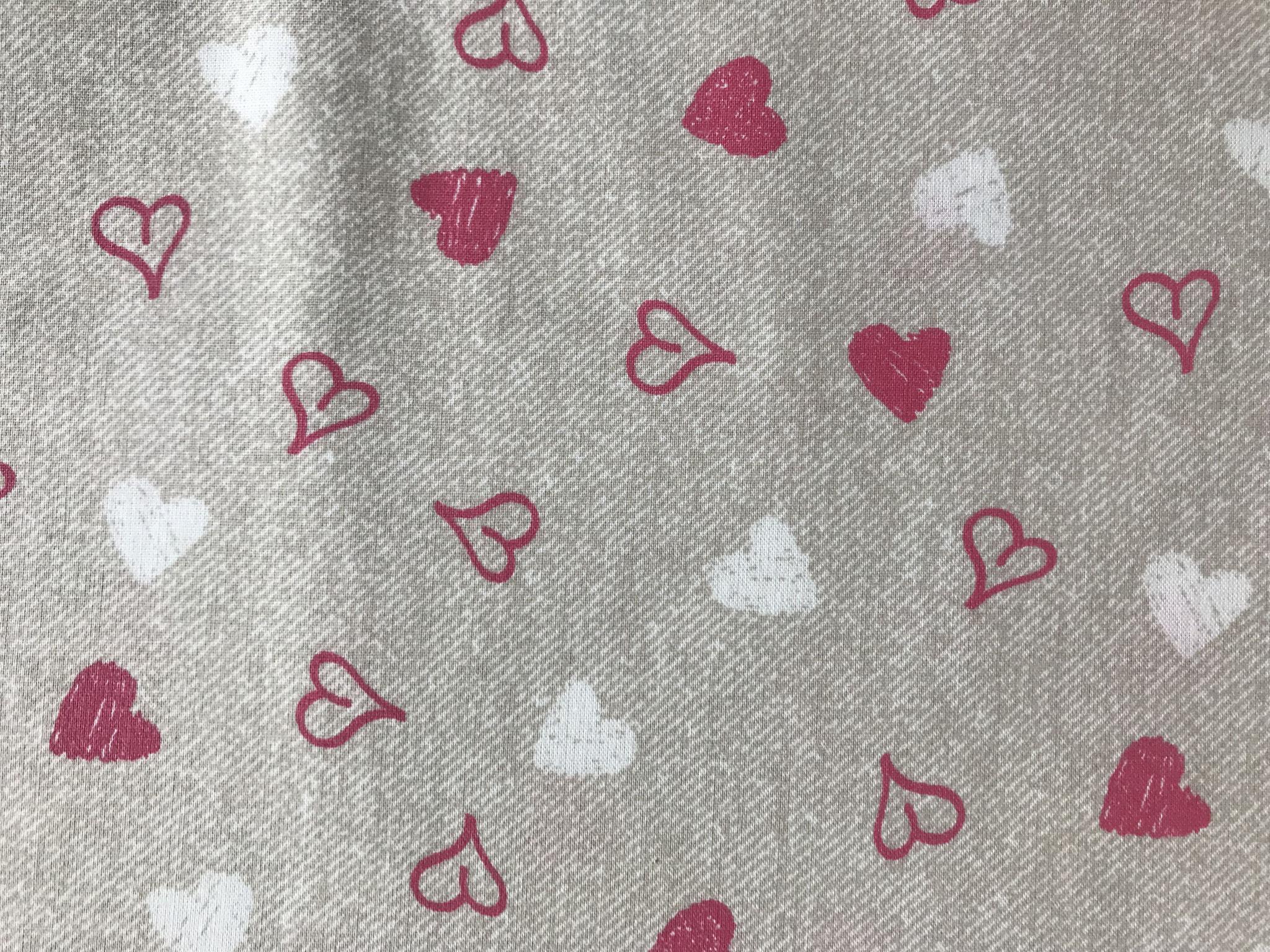 Herzen rosa auf grau