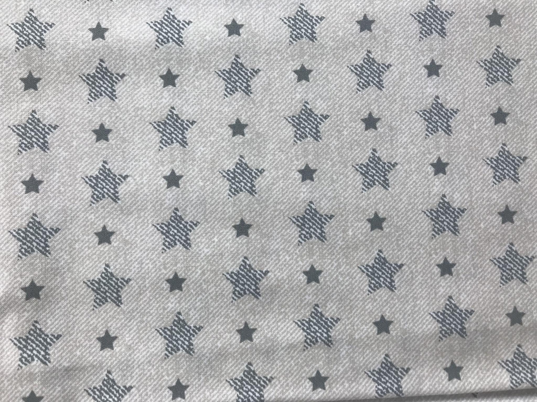 Sterne grau auf creme