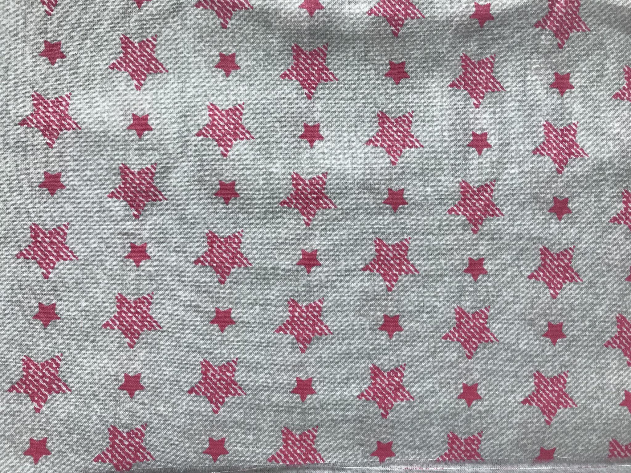 Sterne pink auf grau