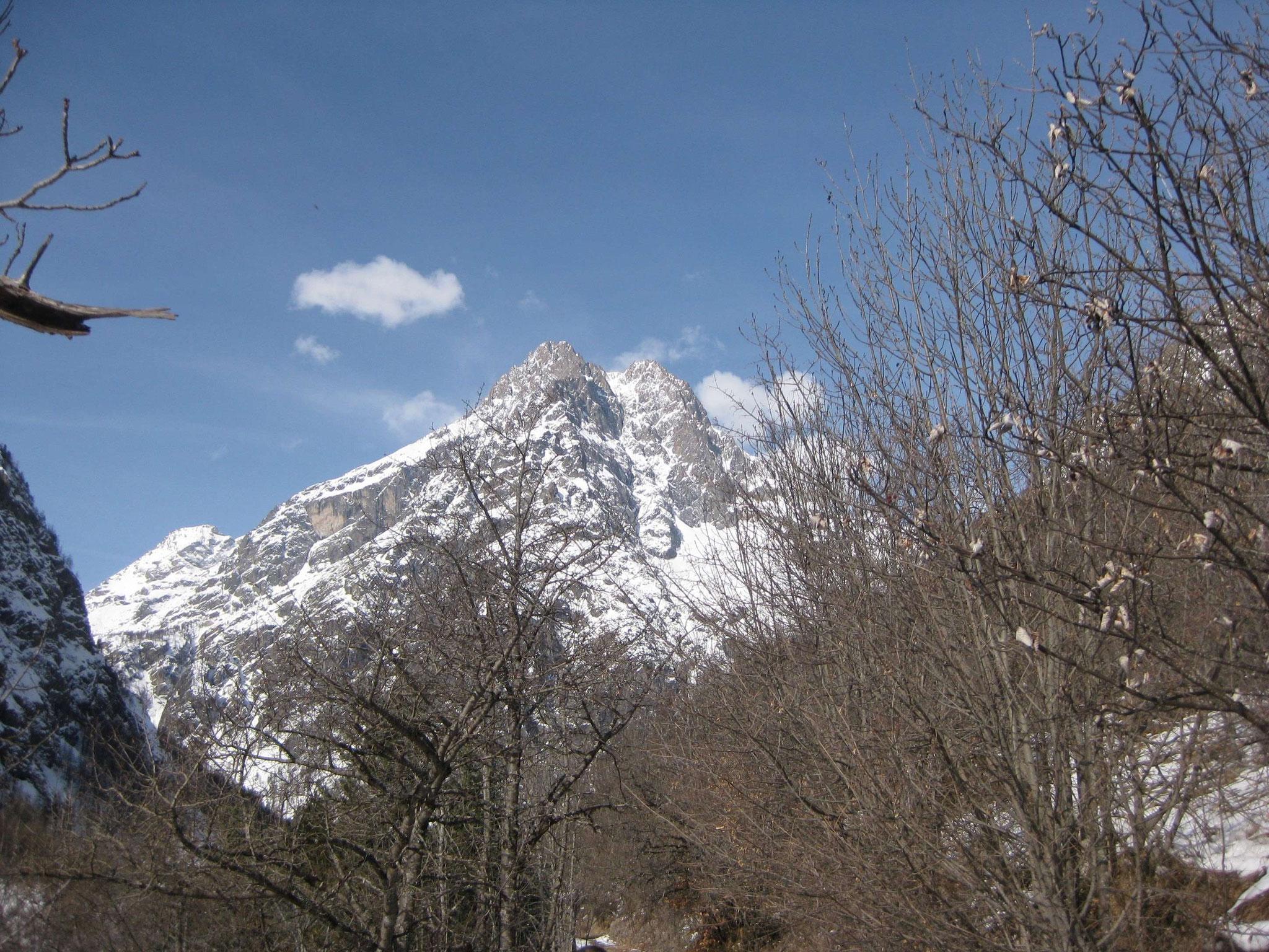 mars 2017 Massif du Pelvoux depuis Ailefroide