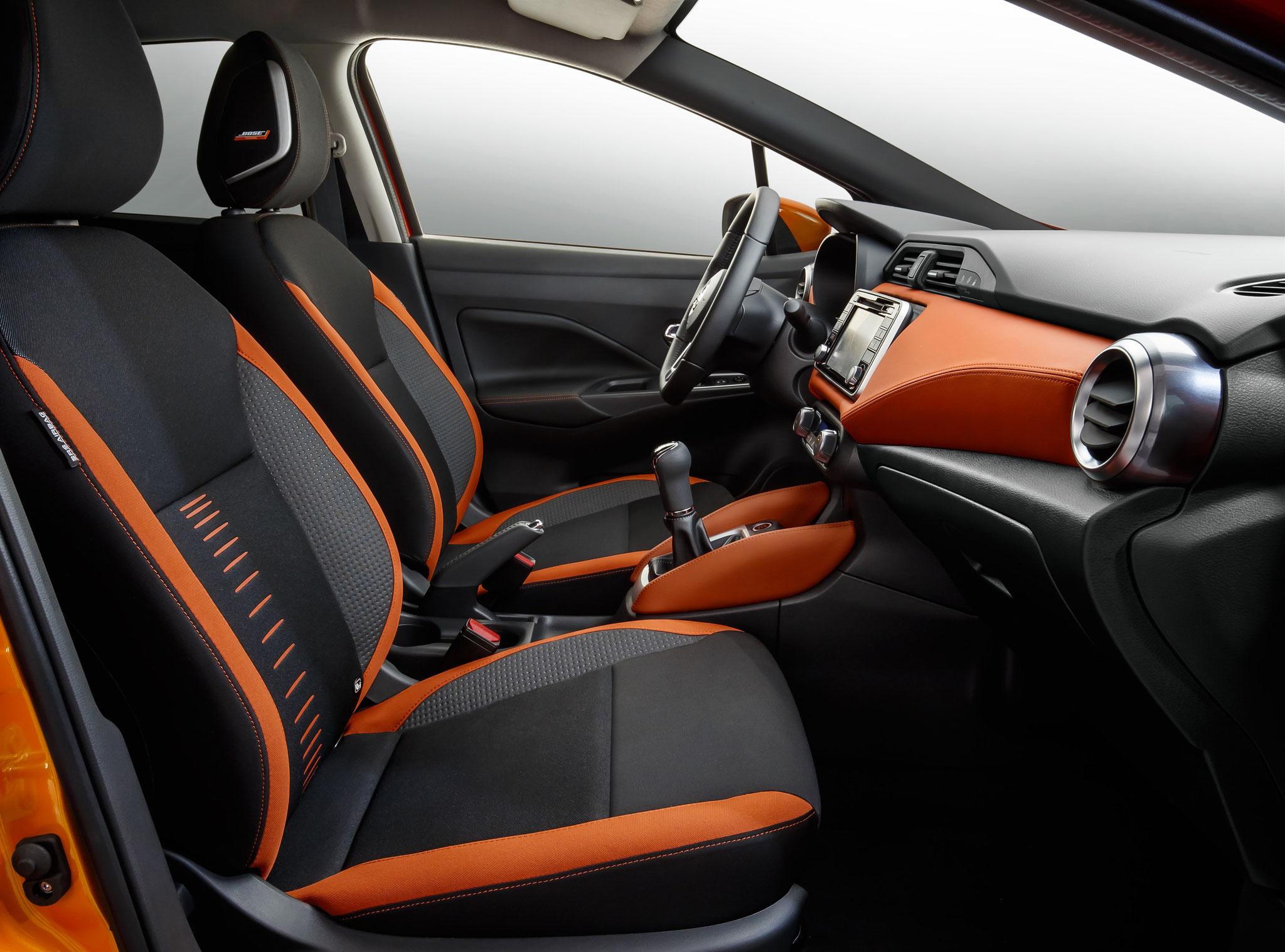 Intérieur personnalité orange racing