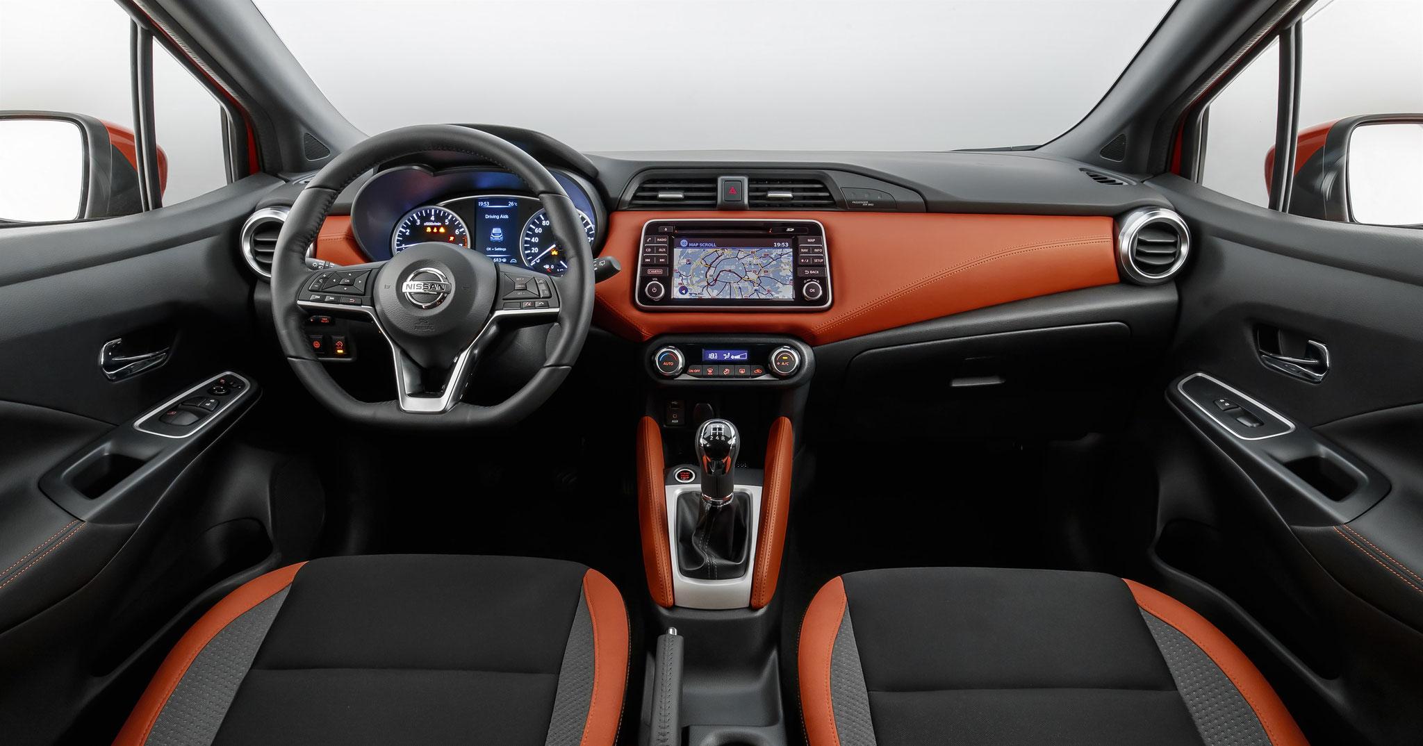 Nissan Micra TEKNA avec pack intérieur orange à 350€
