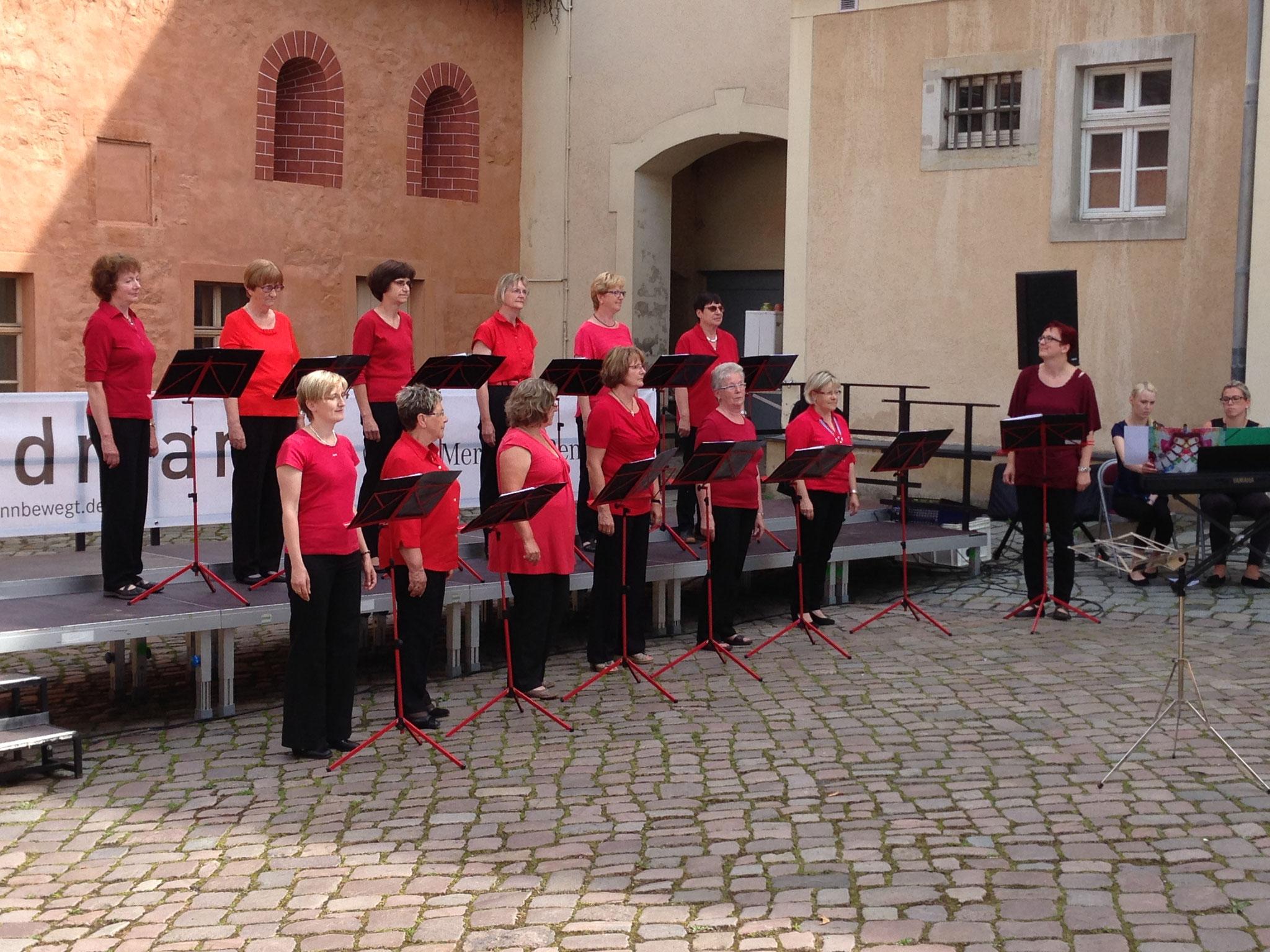 Auftritt auf Einladung des Konzertchores Riesa im Klosterhof Riesa