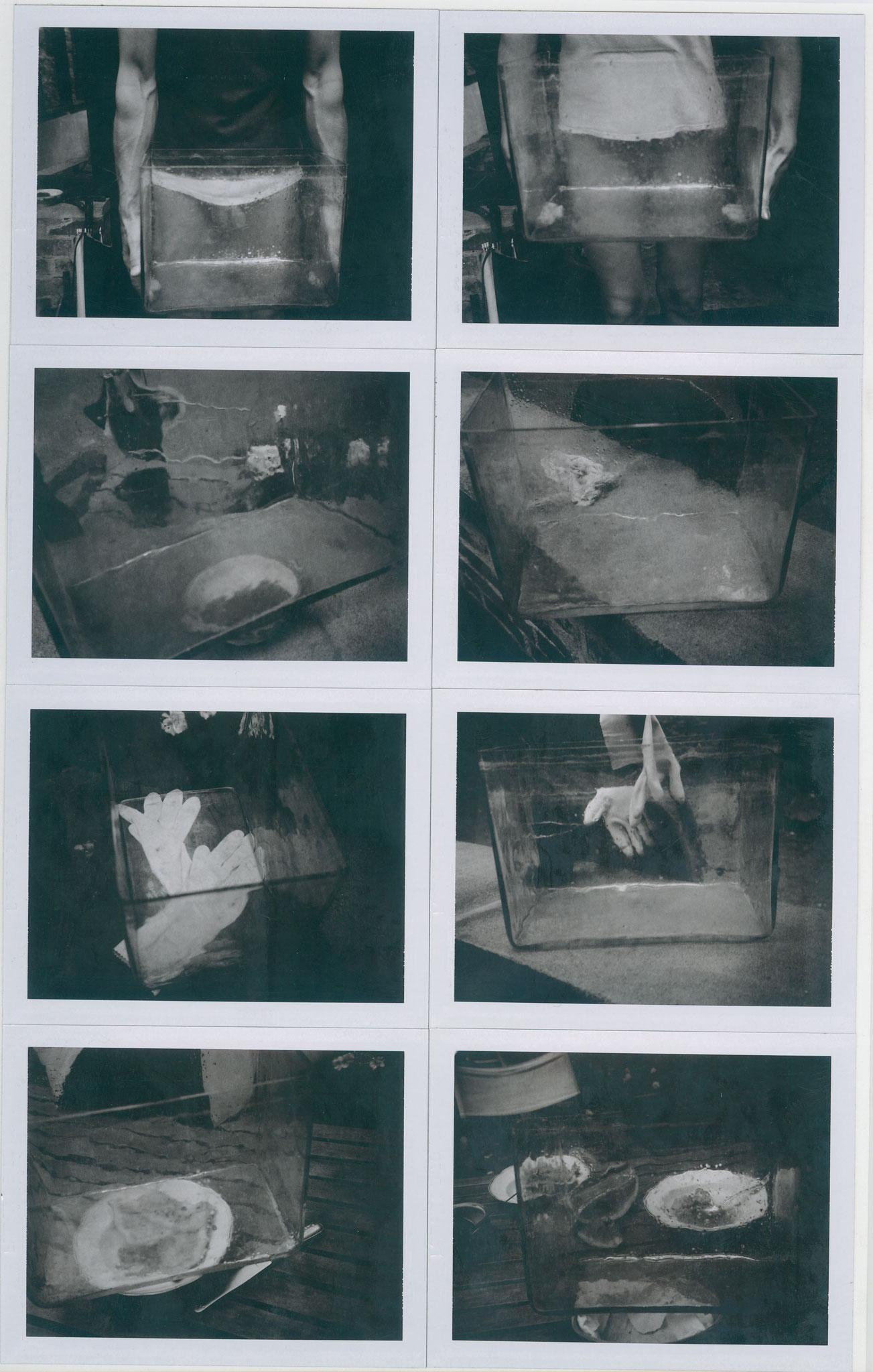 Manfred Paul - Selbstporträts - Polaroids  1980er Jahre