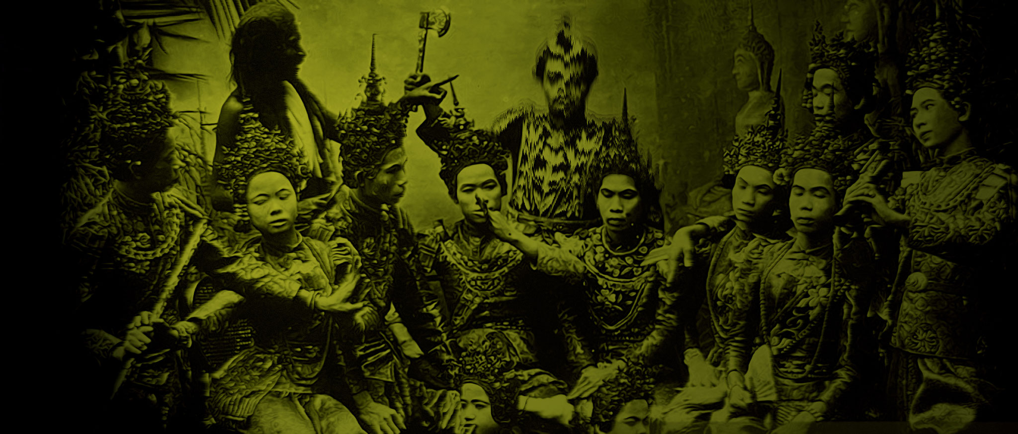 Traditional Thai actors at the performance