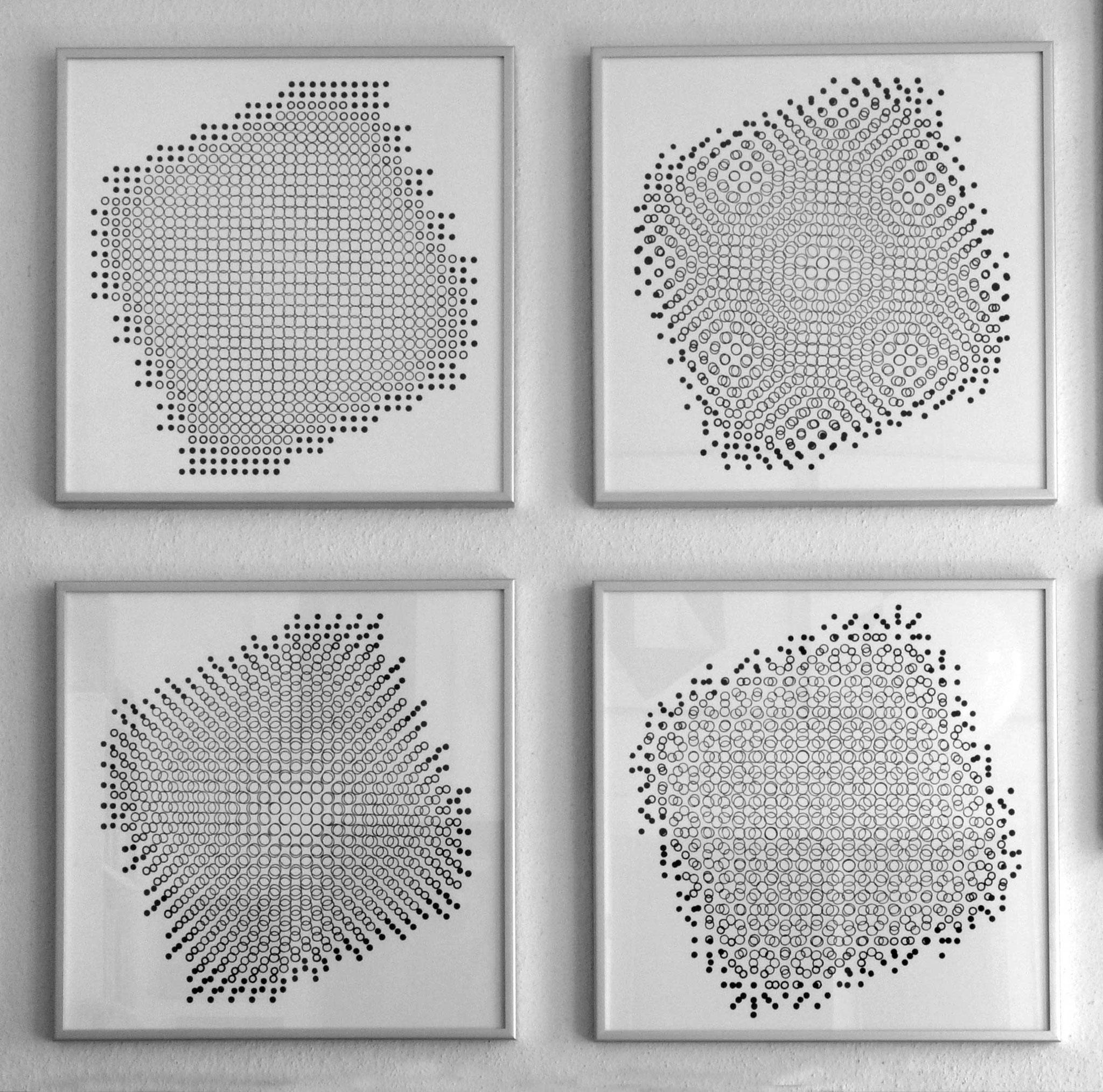 Vier Lochblendenstrukturen, 1967. Serie 3.8.14 D