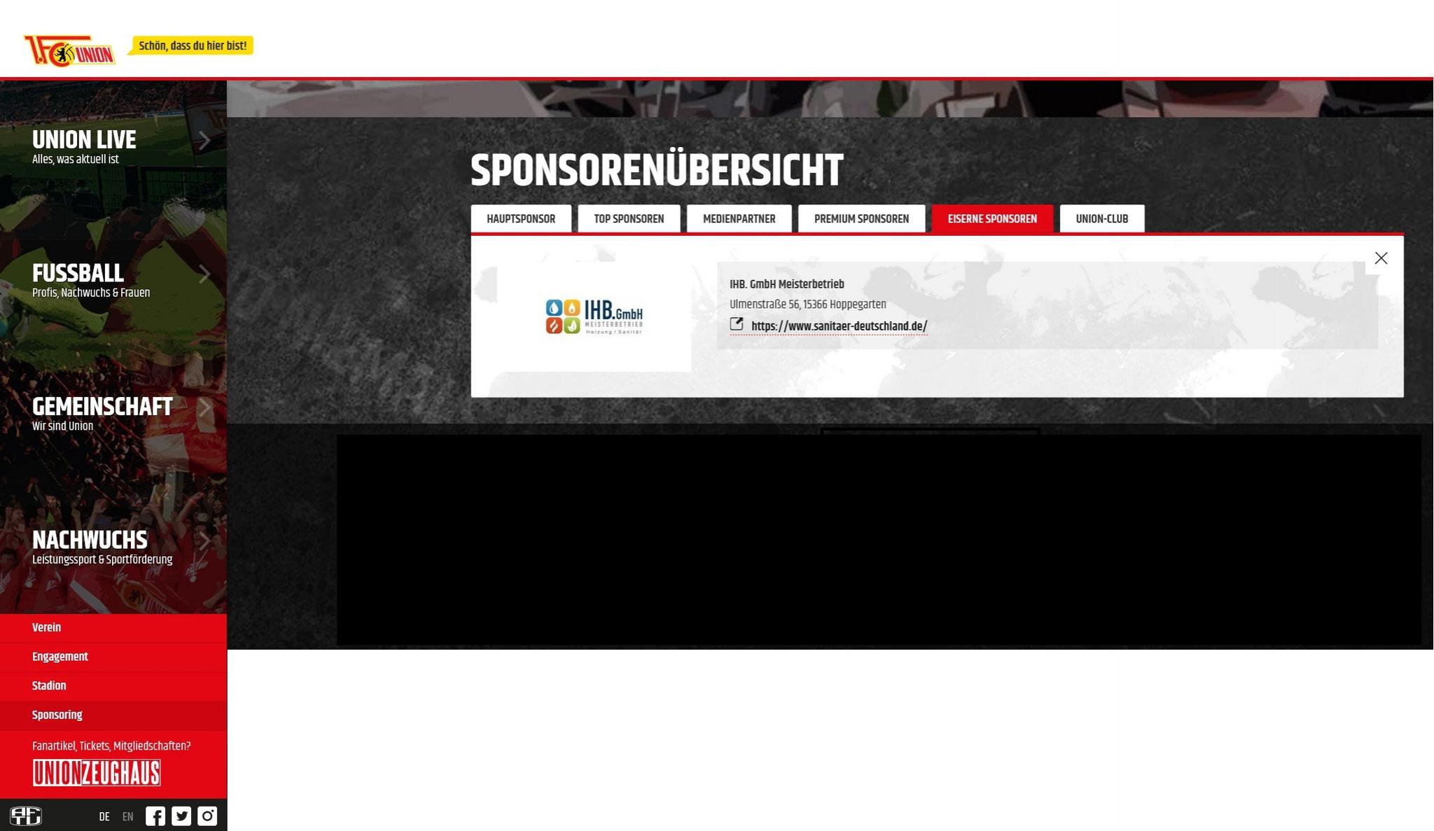 Eiserne Sponsoren - 1. FC Eisern Union