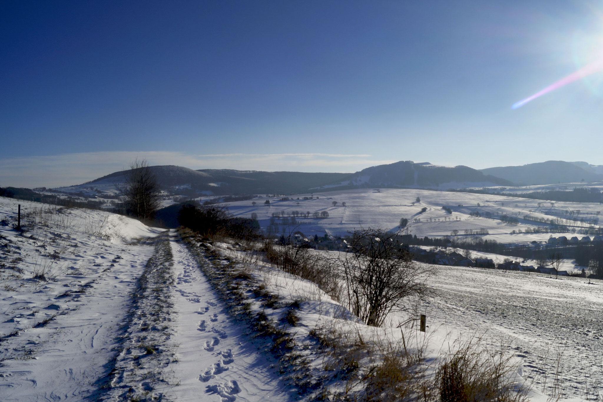 Winter in der Rhön- mit Blick auf den Simmelsberg