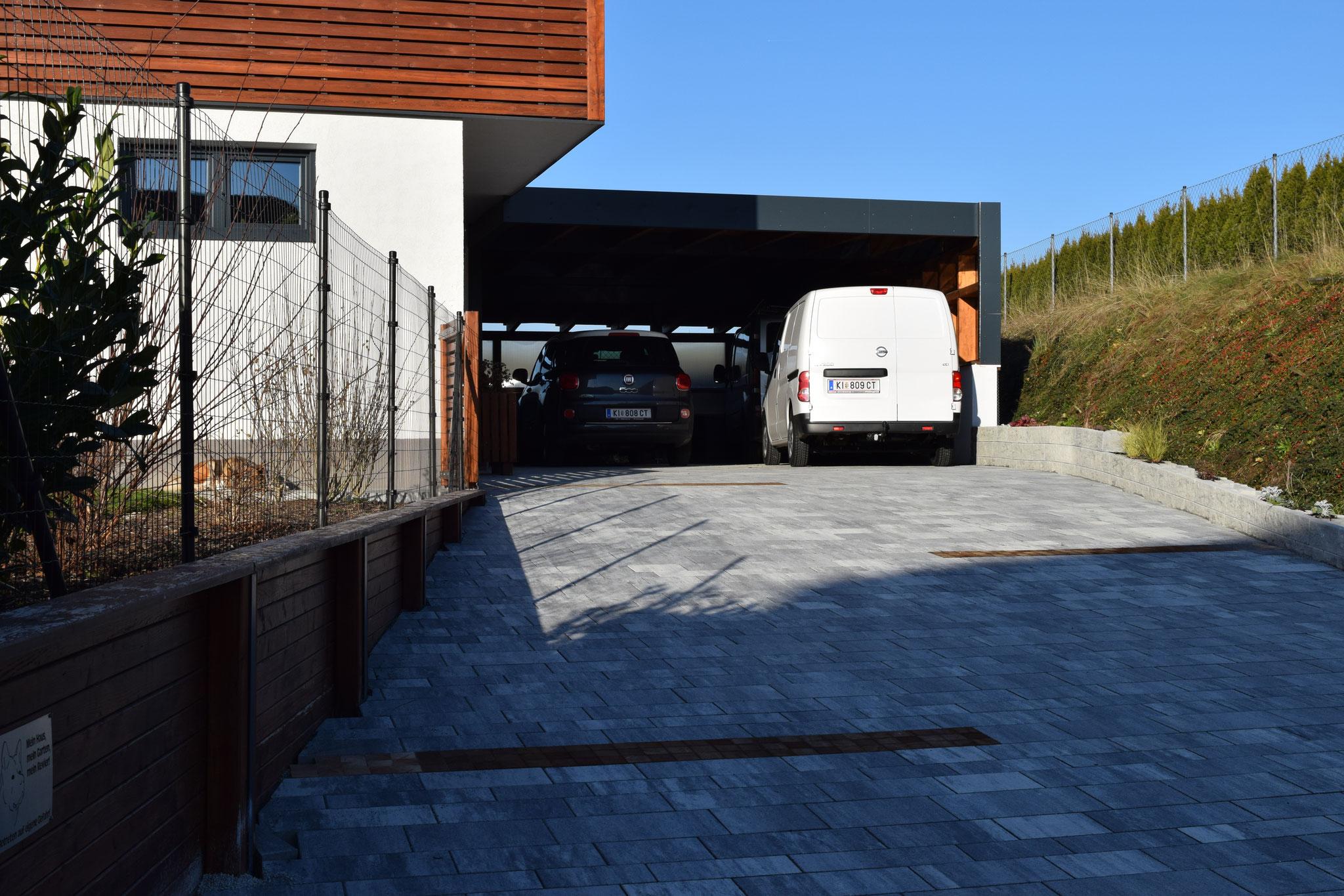 Carport Flachdach