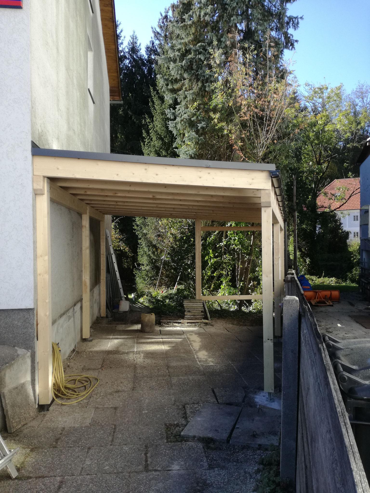 Carport mit Resitrix Dacheindeckung