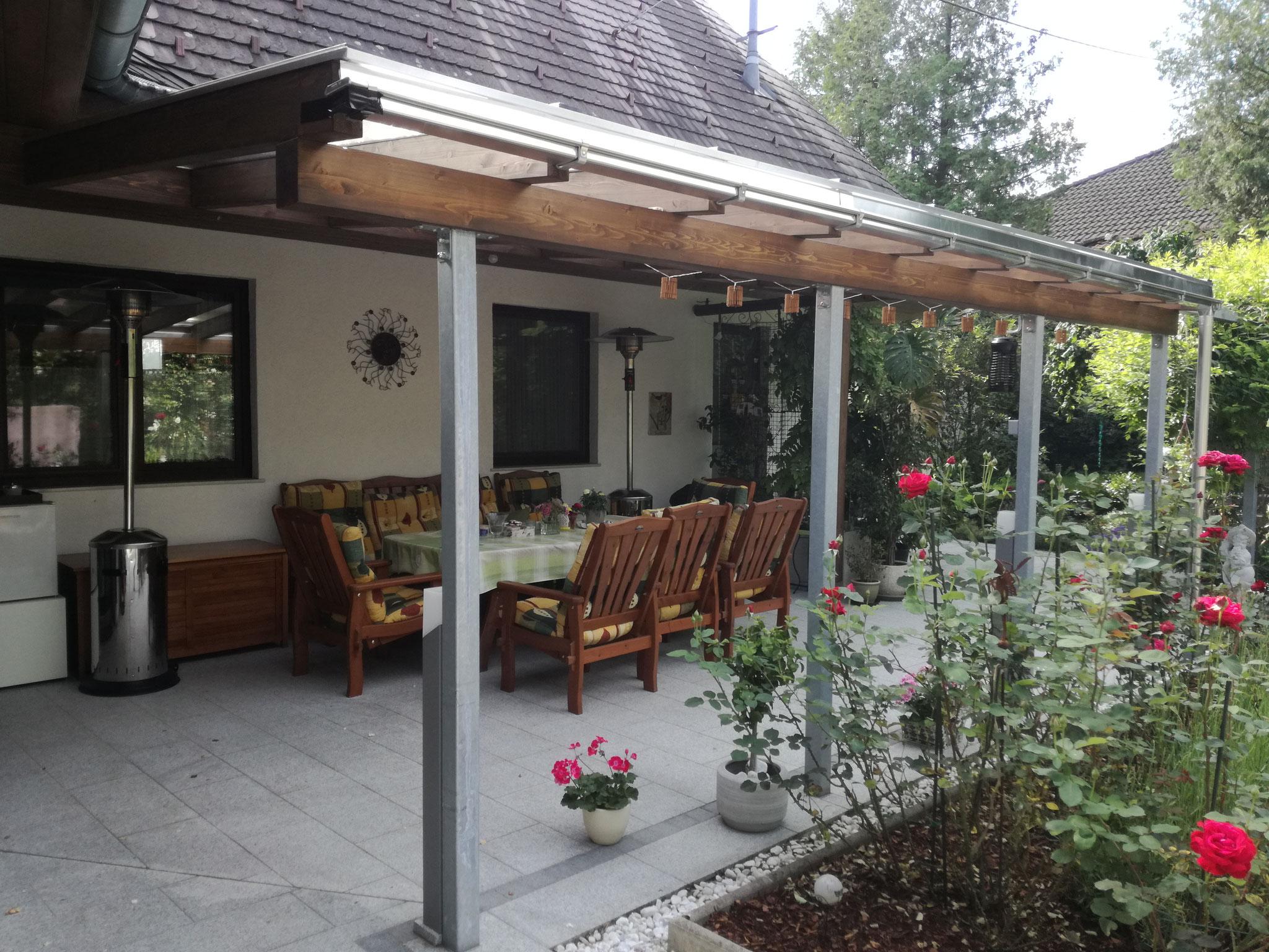 Terrassenüberdachung mit Thermoclear - Stegplatten