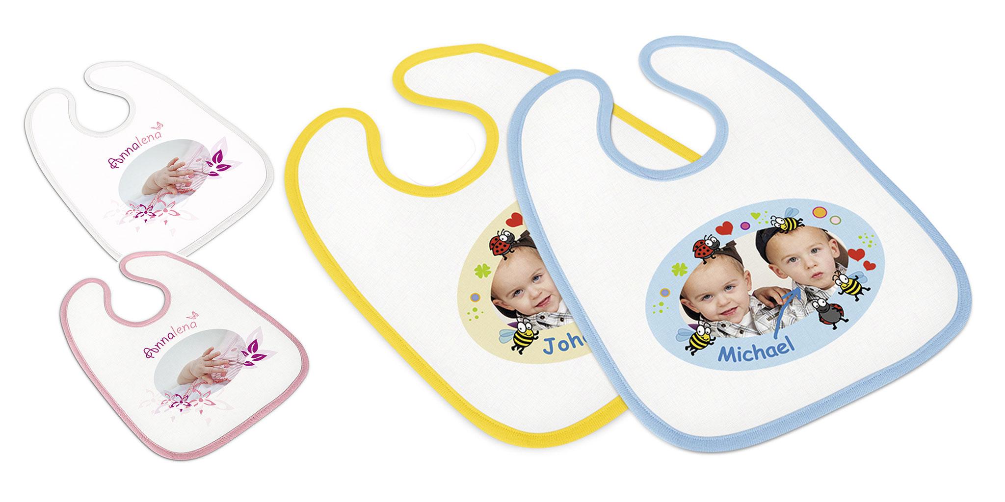 Babylätzchen in diverses Farben