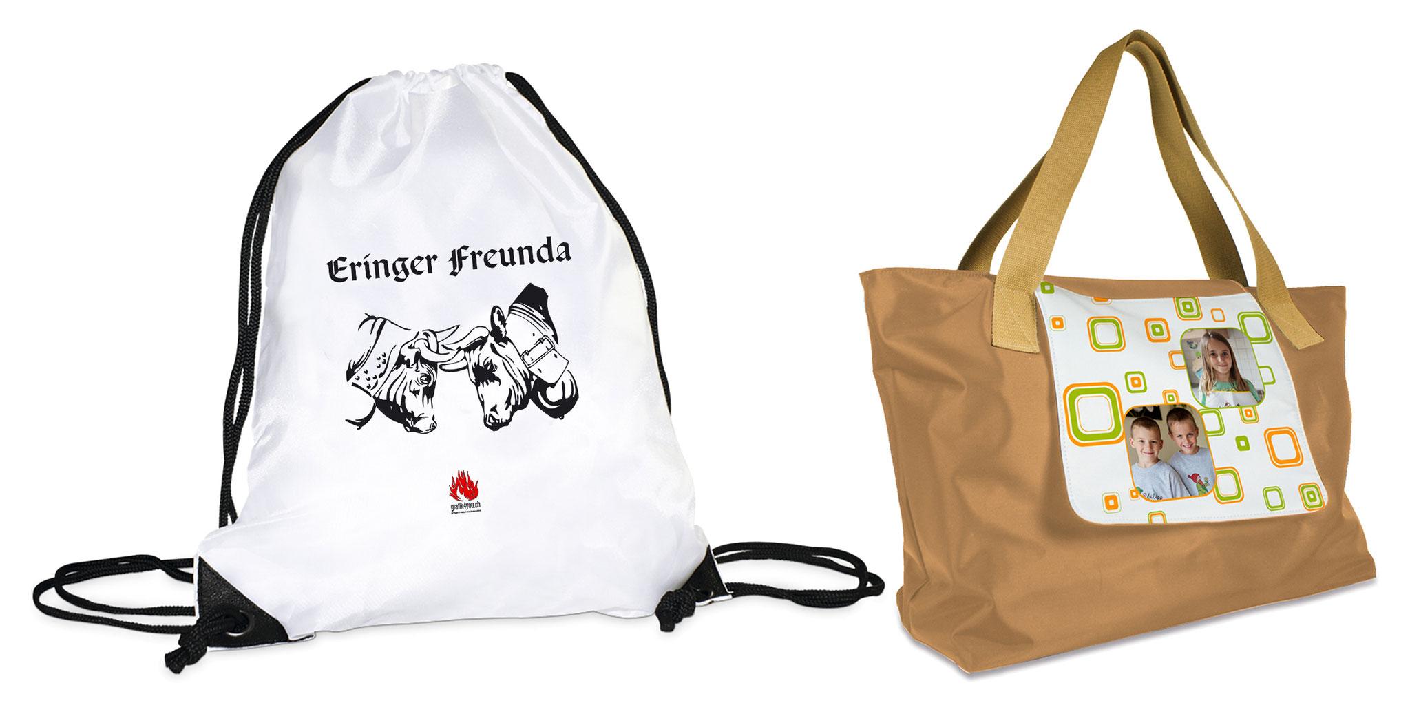 35x44 oder 43x33x15cm (Turnbeutel/Strandtasche), ab CHF 29.00/49.00