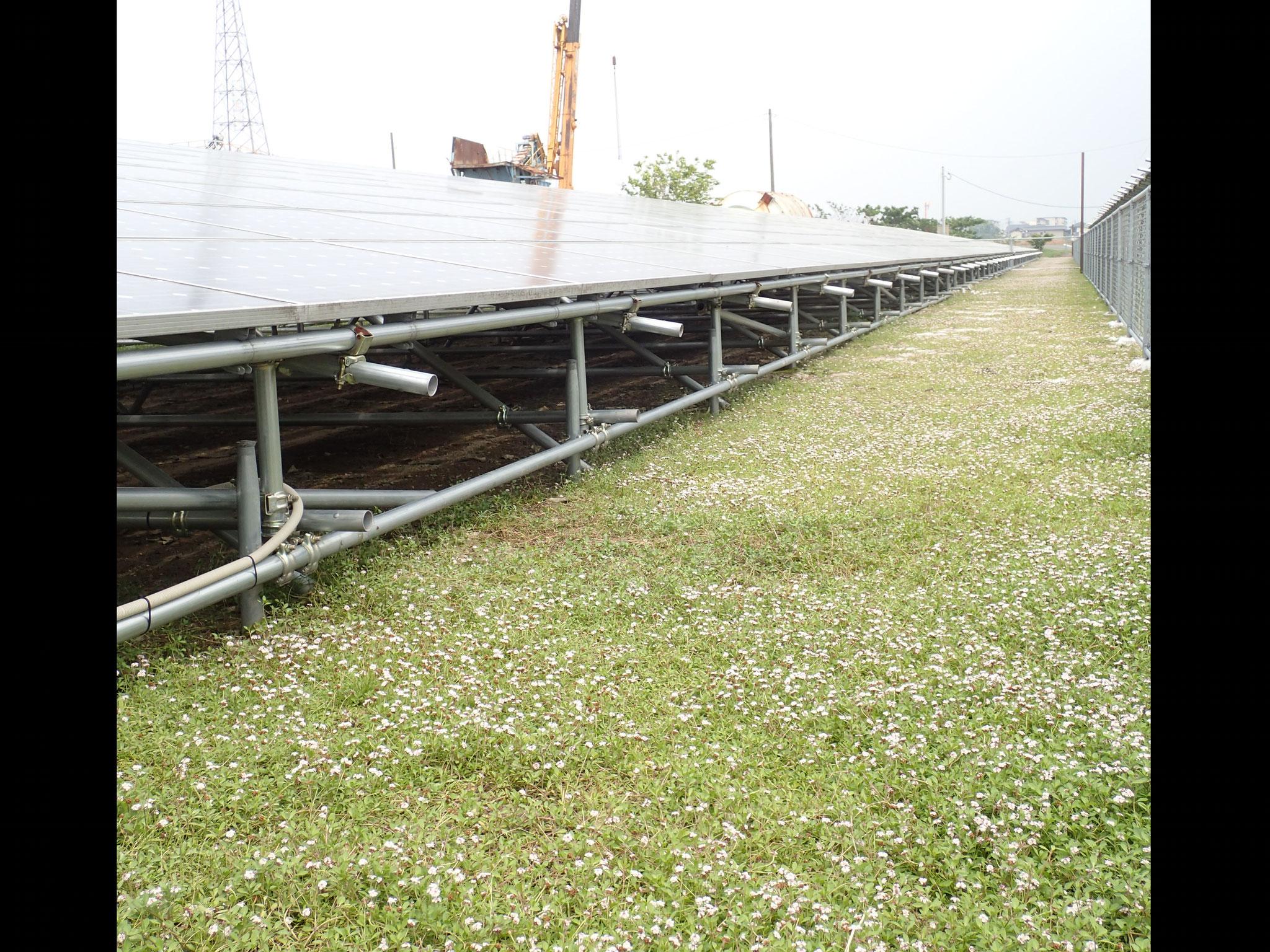 野立て太陽光発電の下地処理に最適です。