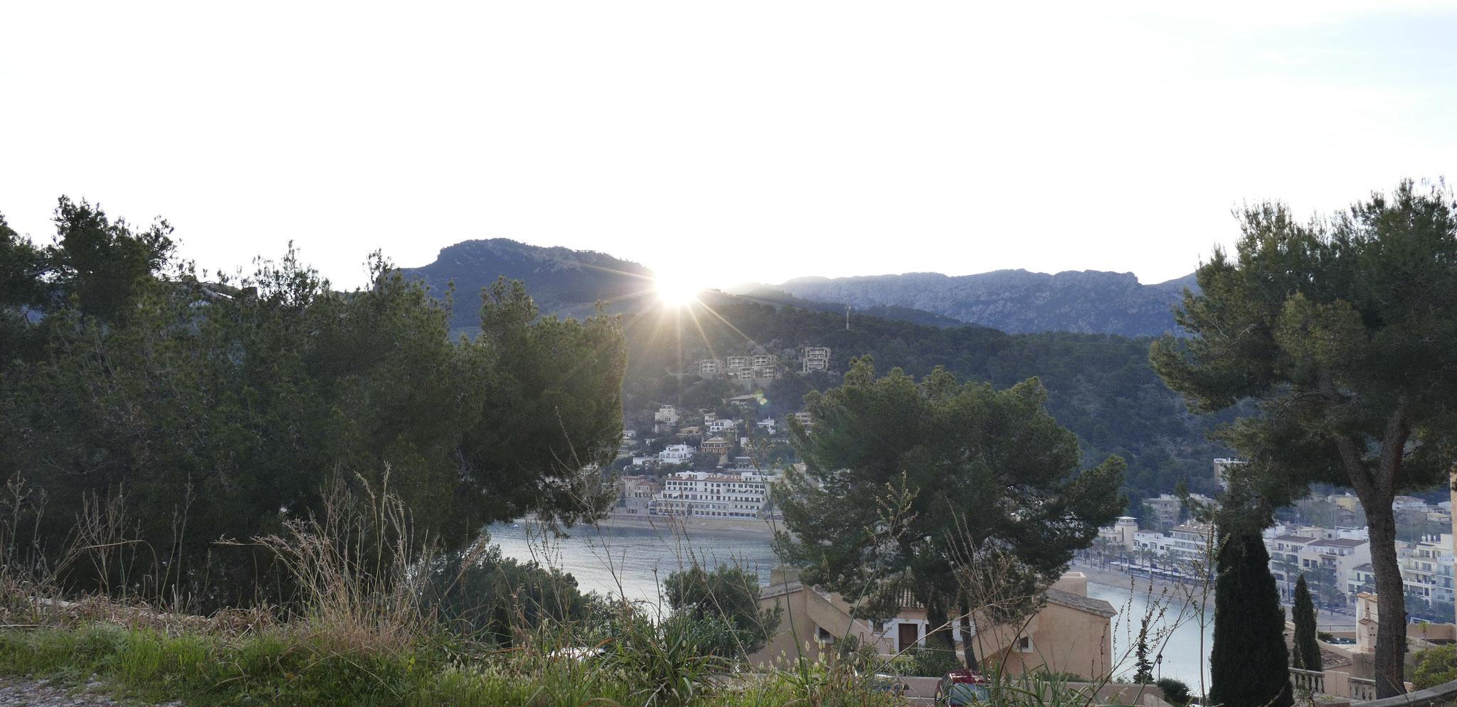 Sonnenaufgang - die Terrasse ist Richtung Osten ausgerichtet