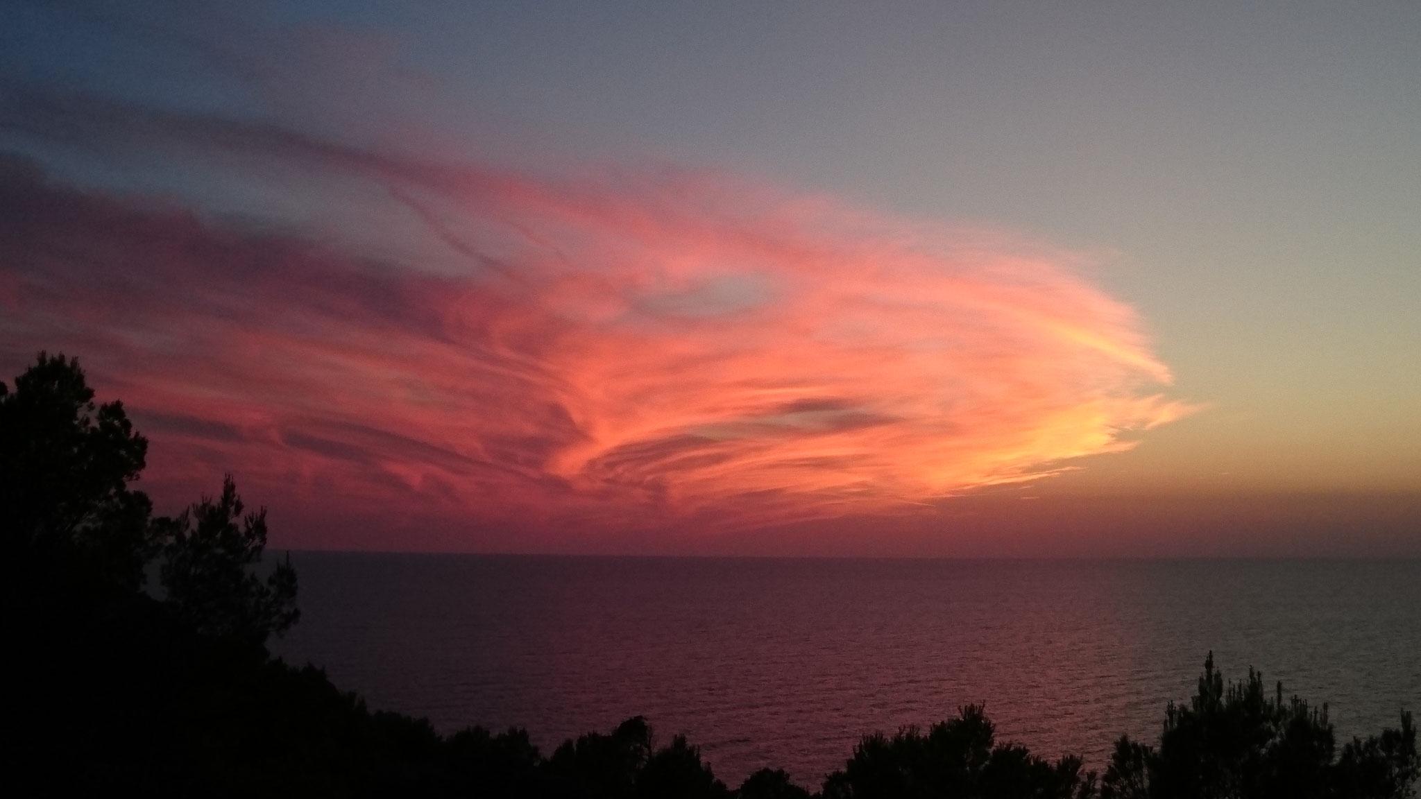 Sonnenuntergangsstimmung am Leuchturm